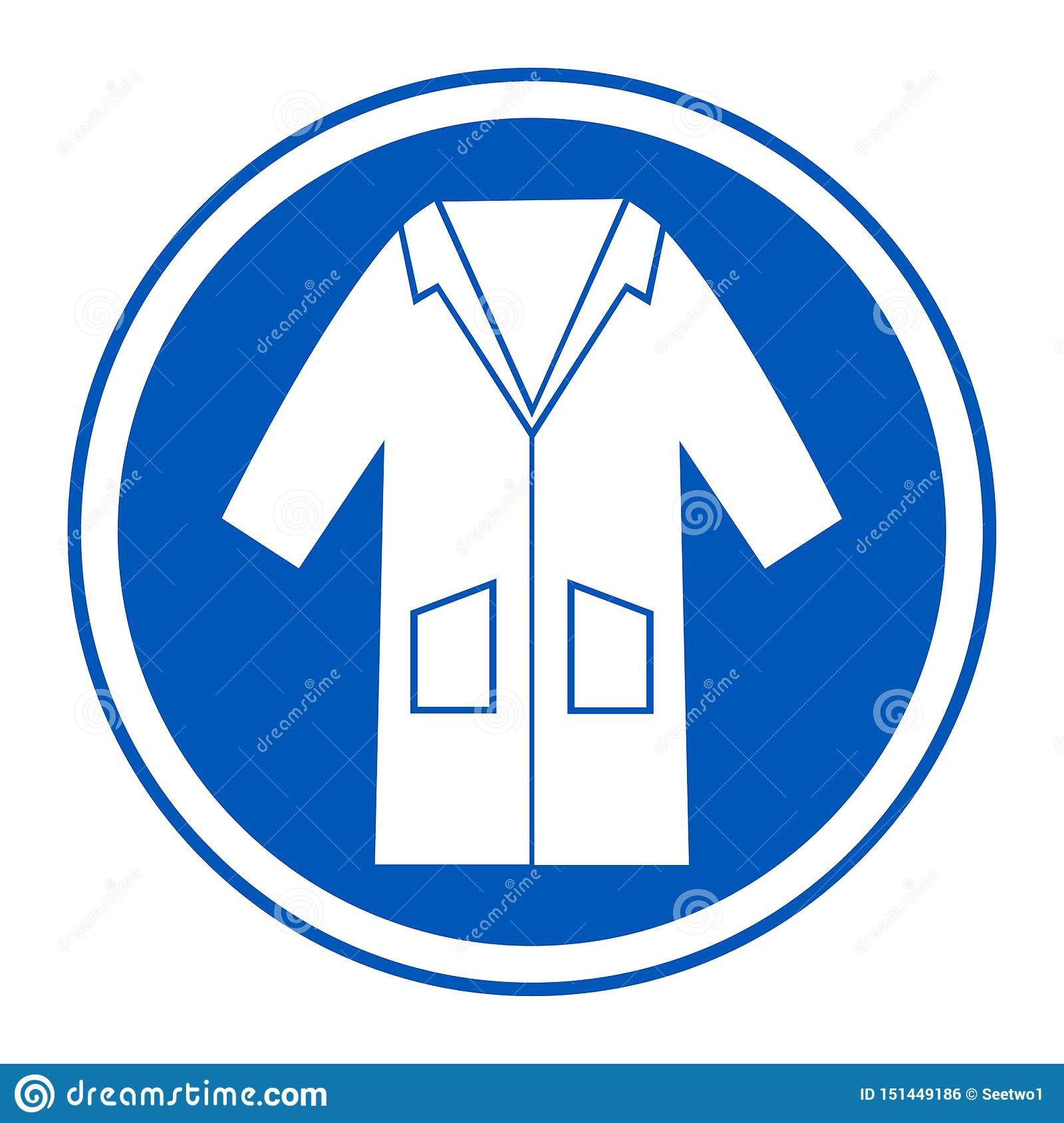 PPE Icon.Wear Smock Symbol Sign Isolate On White Background,Vector Illustration EPS.10