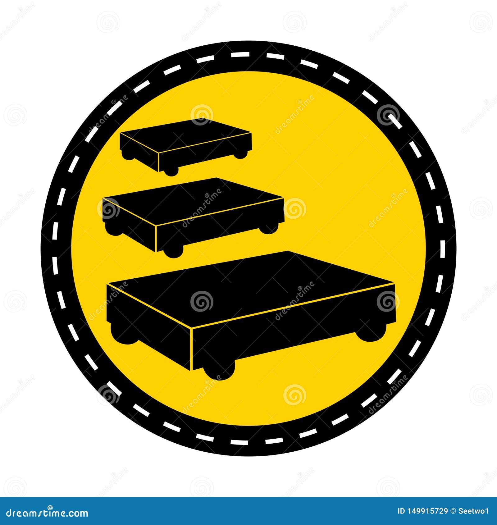 PPE pictogram Het Teken van het het Parkerensymbool van het verfkarretje isoleert op Witte Achtergrond, Vectorillustratie