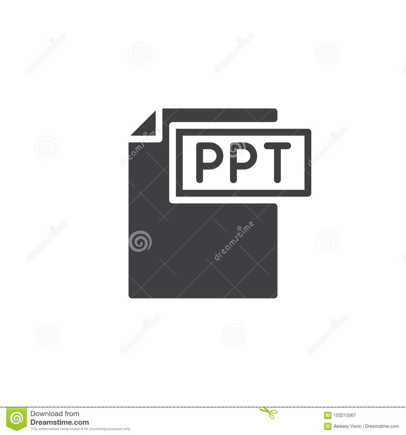 ppt format document icon vector stock vector illustration of type