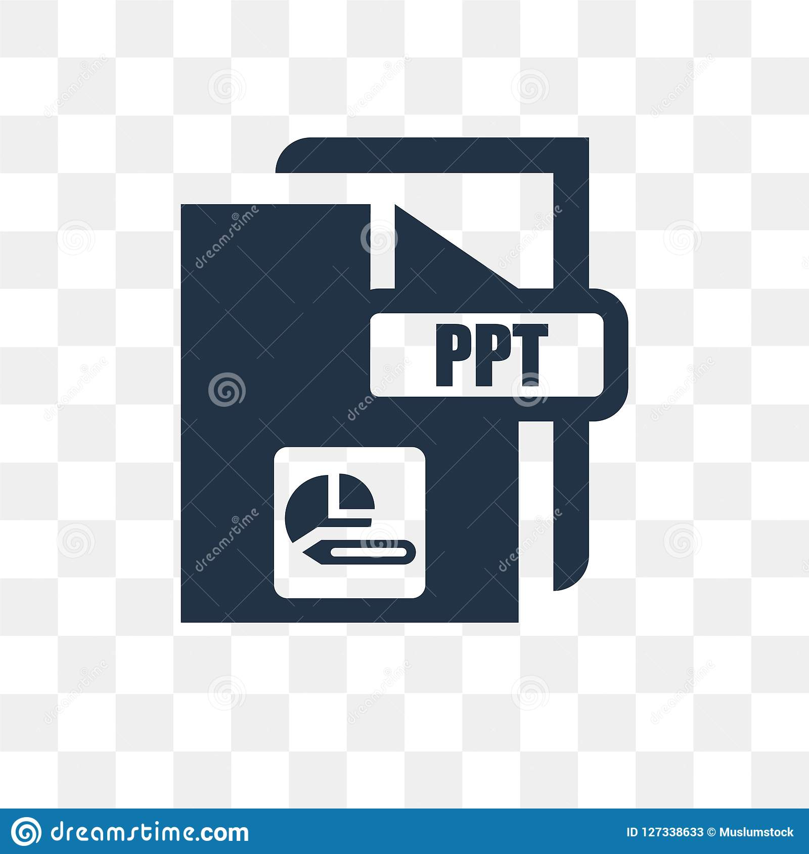 ppt vector icon isolated on transparent background ppt transpa