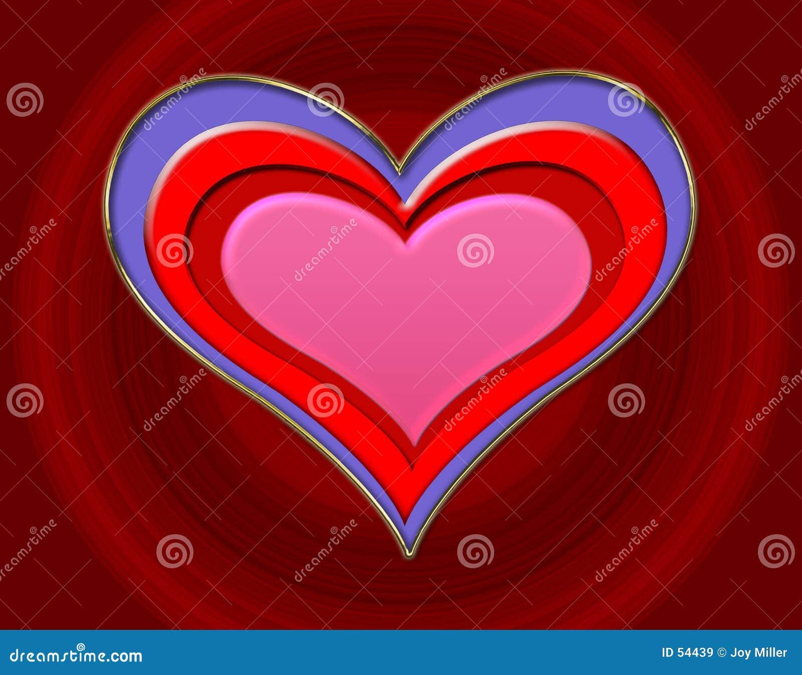 Präglad hjärta
