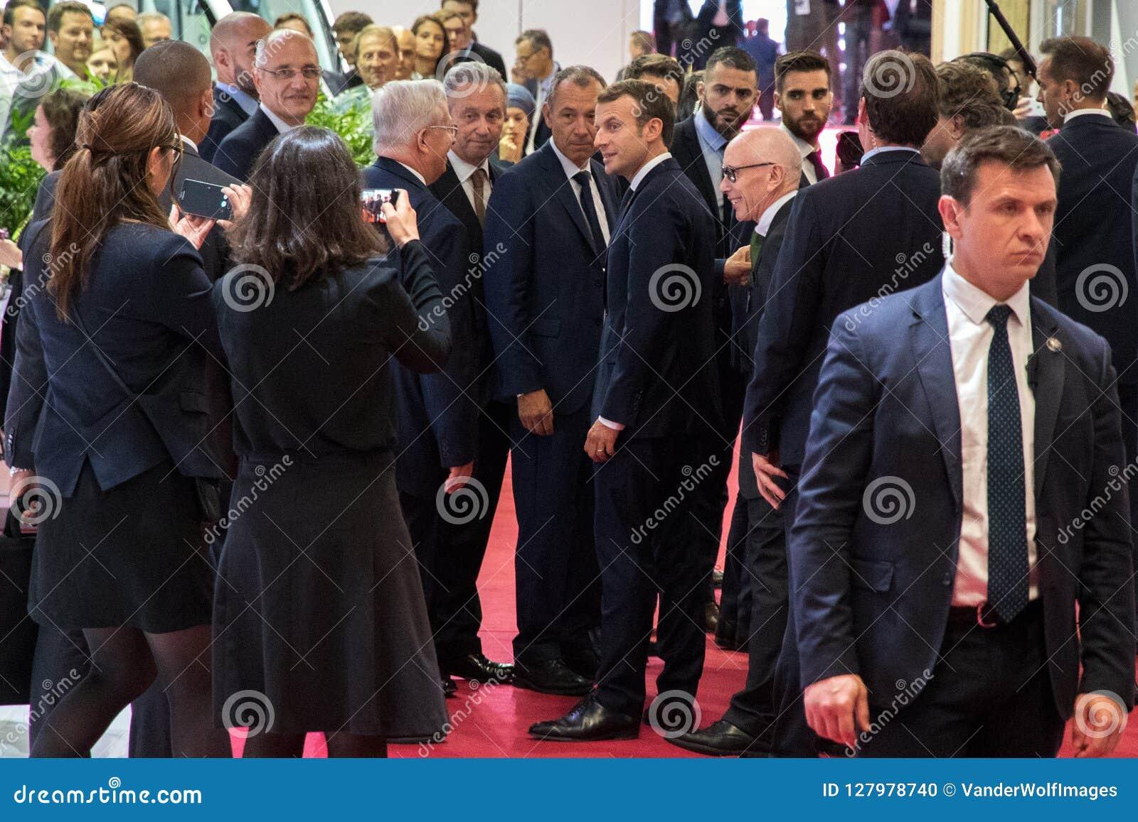 Präsident von Frankreich Emmanuel Macron