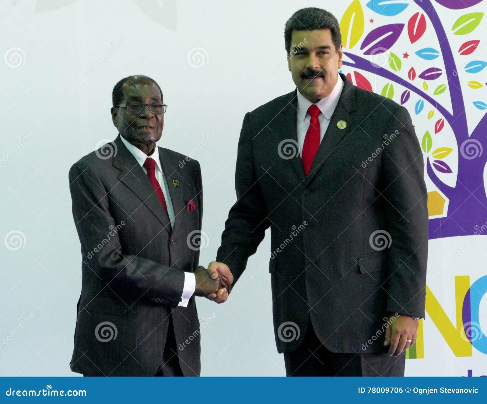 Präsident von Zimbawe Robert Mugabe und venezolanischer Präsident Nicolas Maduro