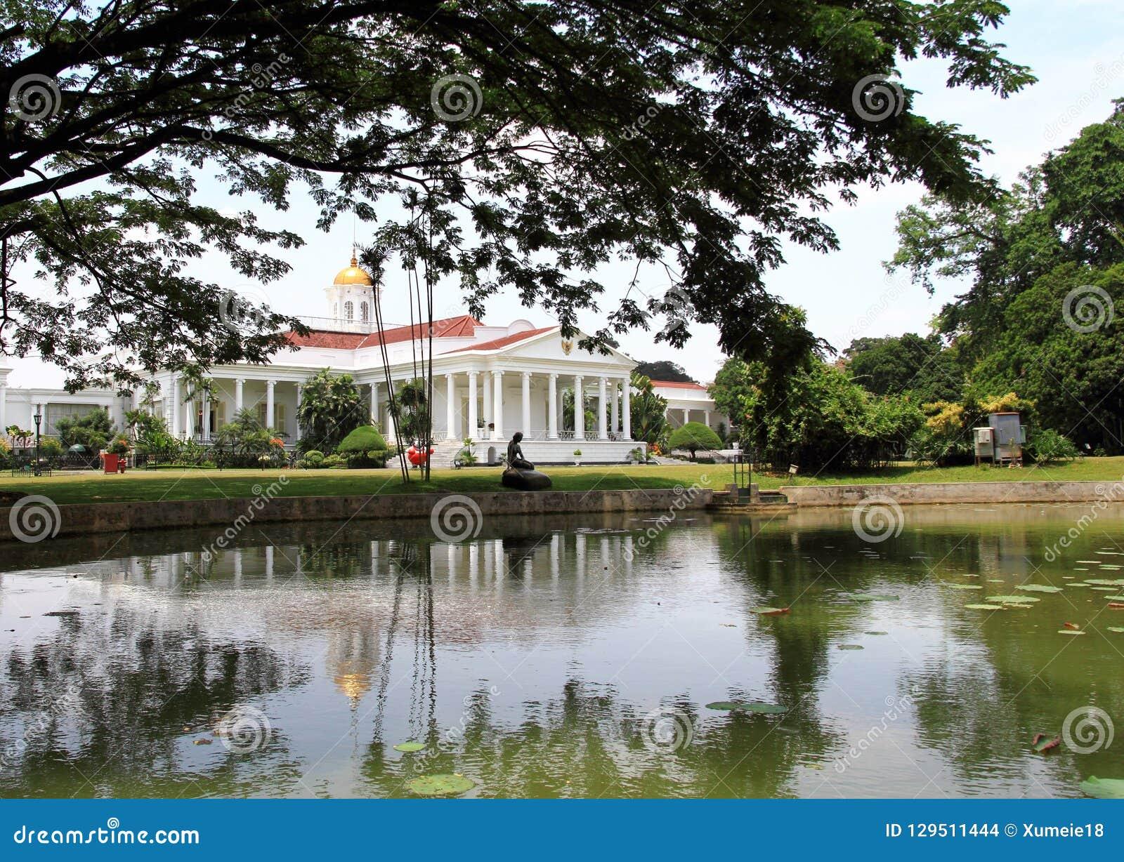 Präsidentenpalast in Bogor, Indonesien
