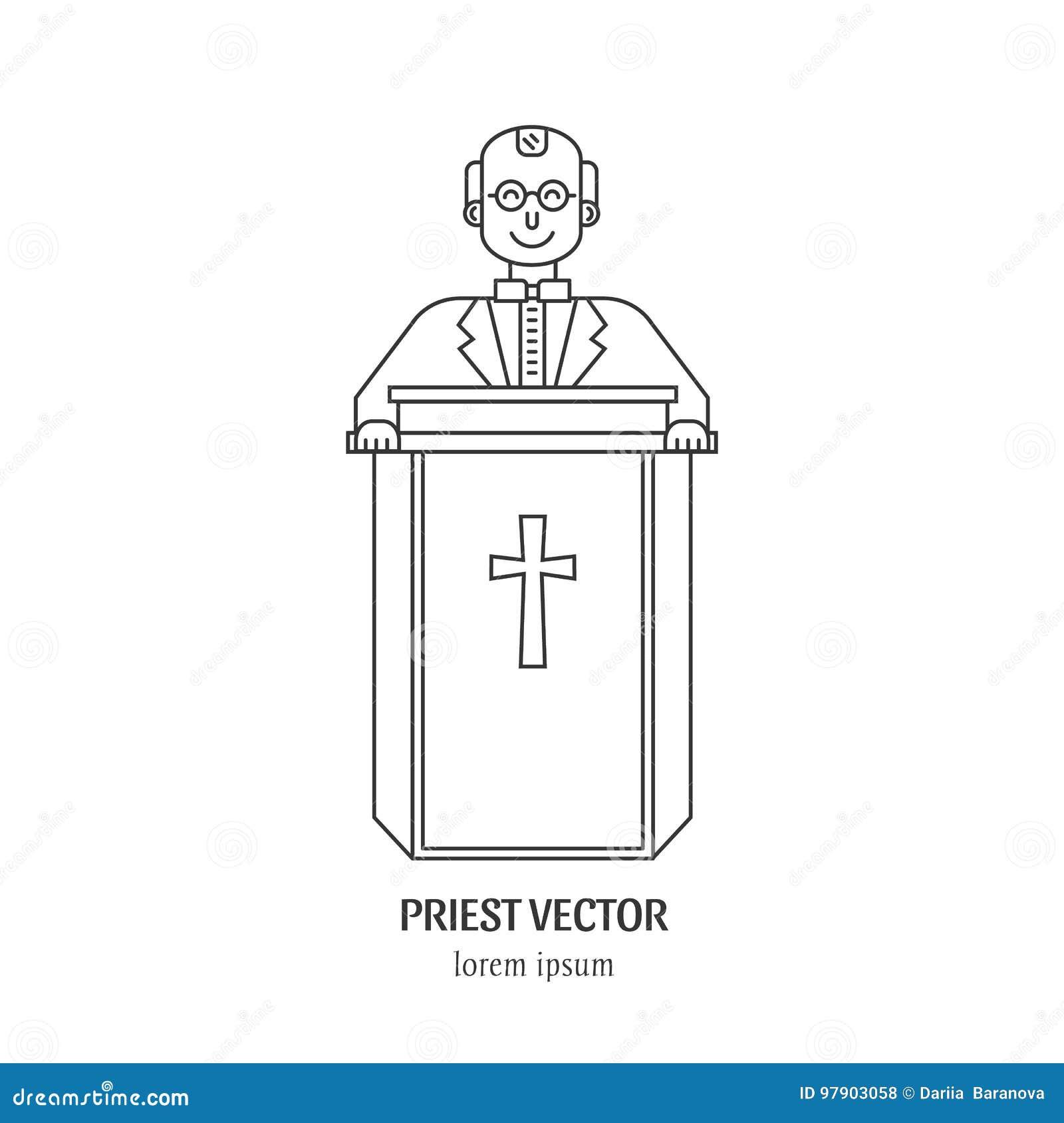 Prästlinje symbol