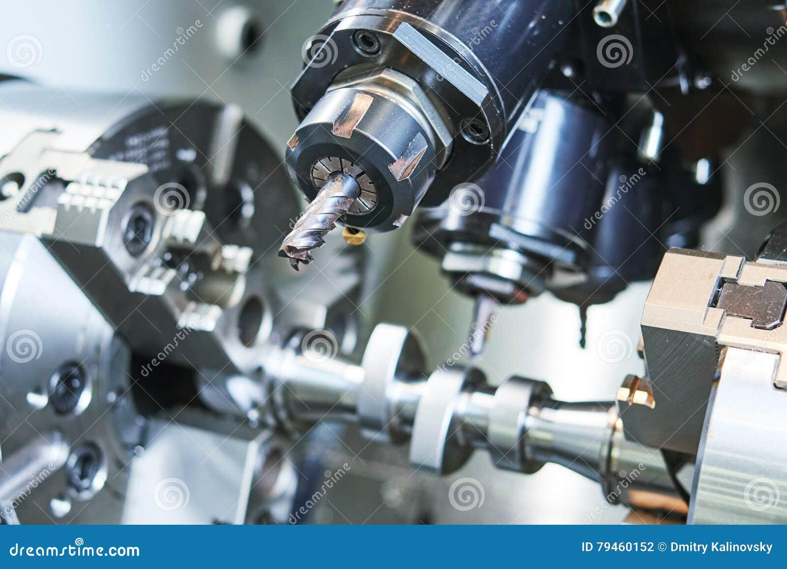 Präzision CNC-Metall, das durch Mühle, Bohrgerät und Schneider maschinell bearbeitet