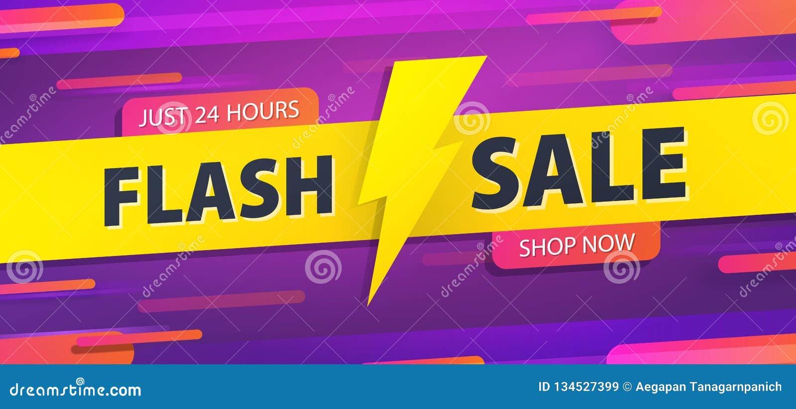Prålig försäljning för gul etikett 24 design för överskrift för baner för timmebefordranwebsite på den grafiska purpurfärgade bak