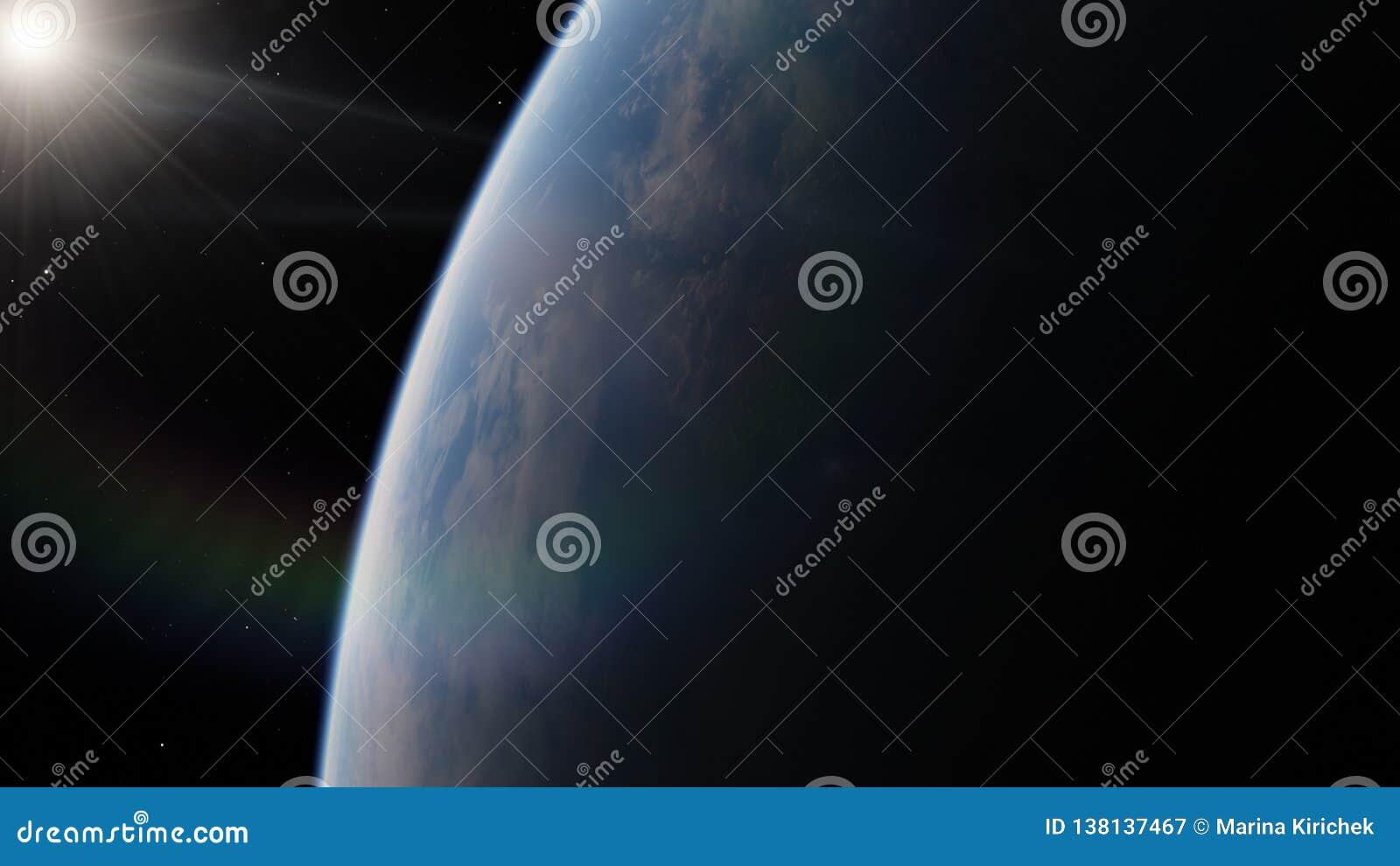 Près, basse planète bleue d orbite terrestre Éléments de cette image meublés par la NASA