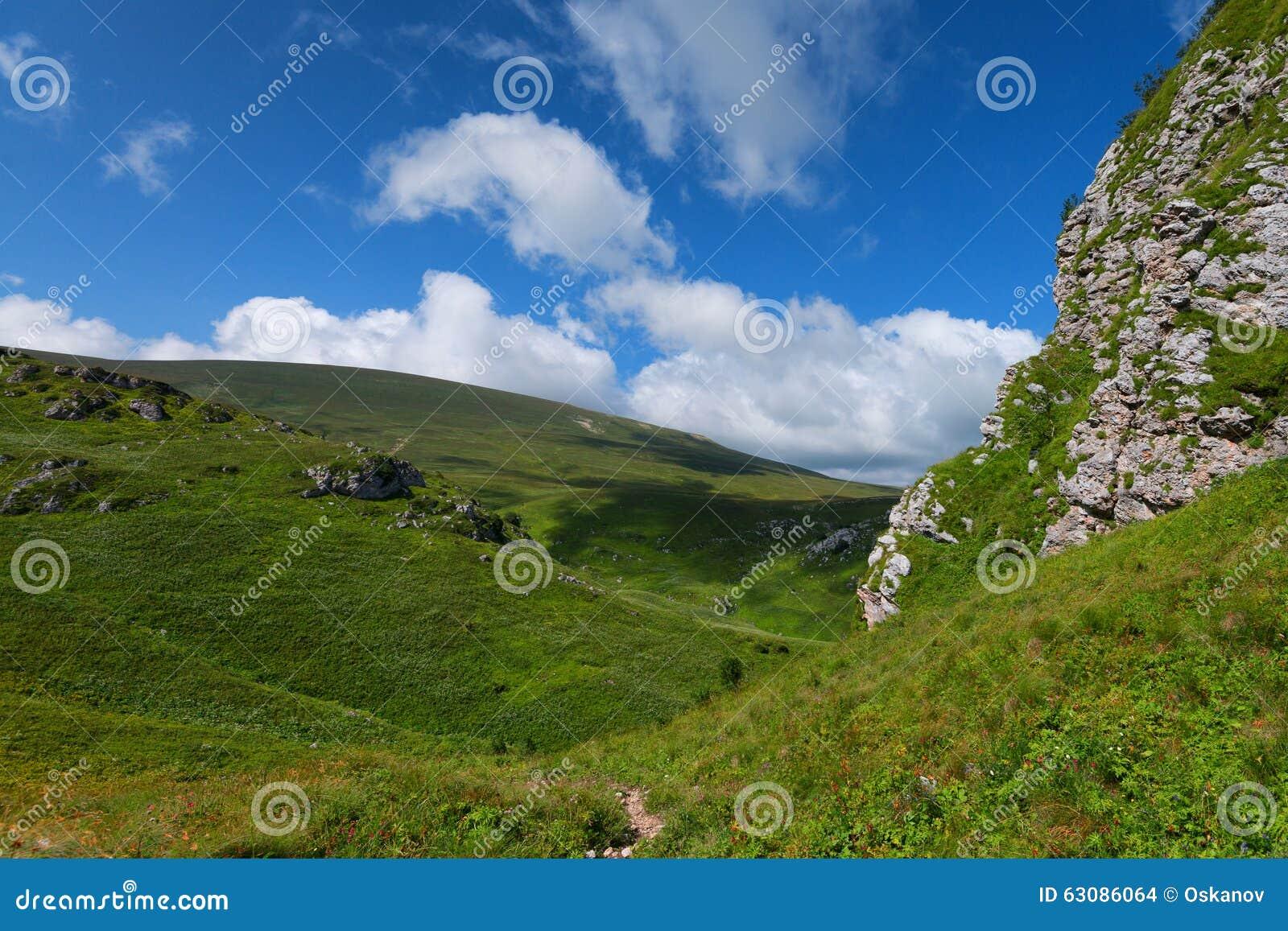 Download Pré de montagne photo stock. Image du lumineux, côte - 63086064
