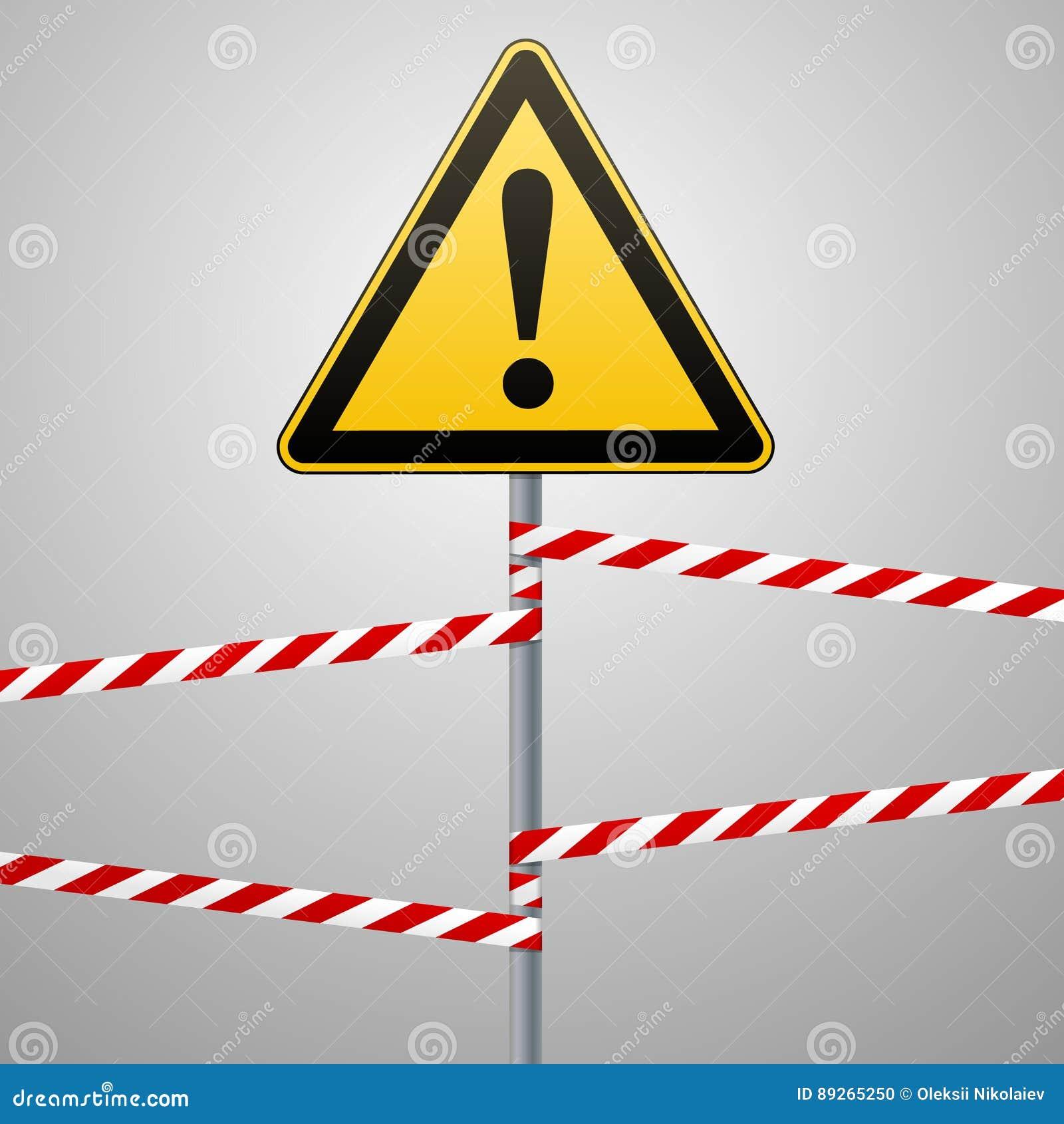 pr caution s curit de panneau d 39 avertissement de danger une triangle jaune avec l 39 image noire. Black Bedroom Furniture Sets. Home Design Ideas