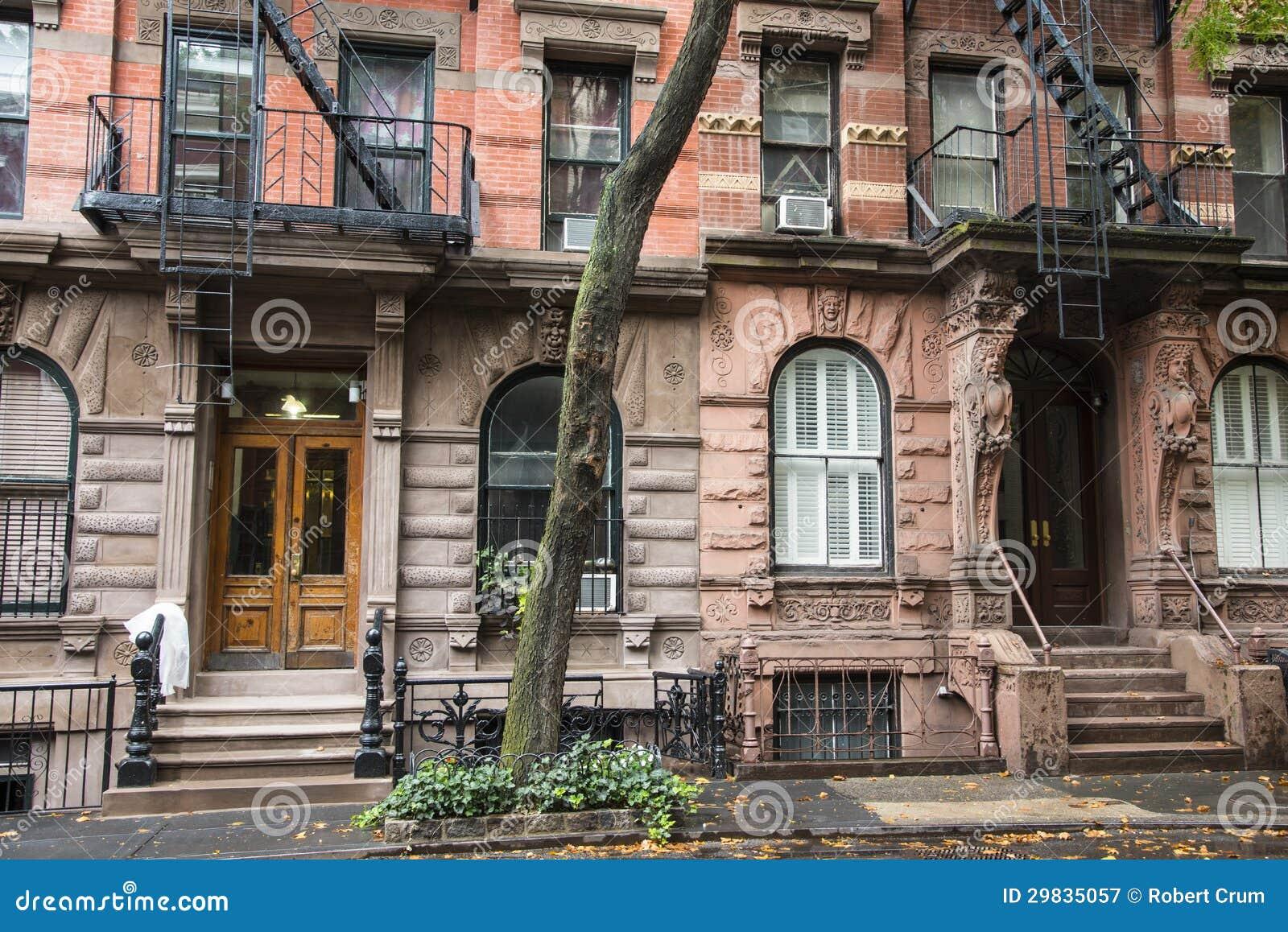 Prédios de apartamentos do Greenwich Village, New York City