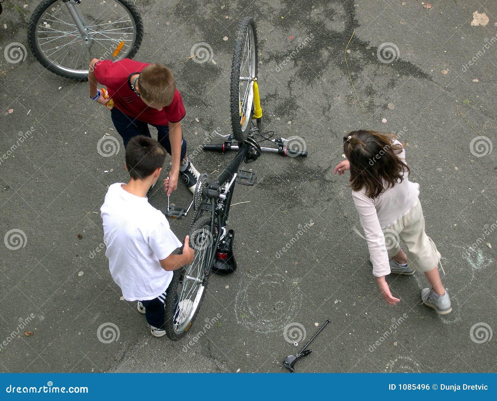 Préparation de la bicyclette