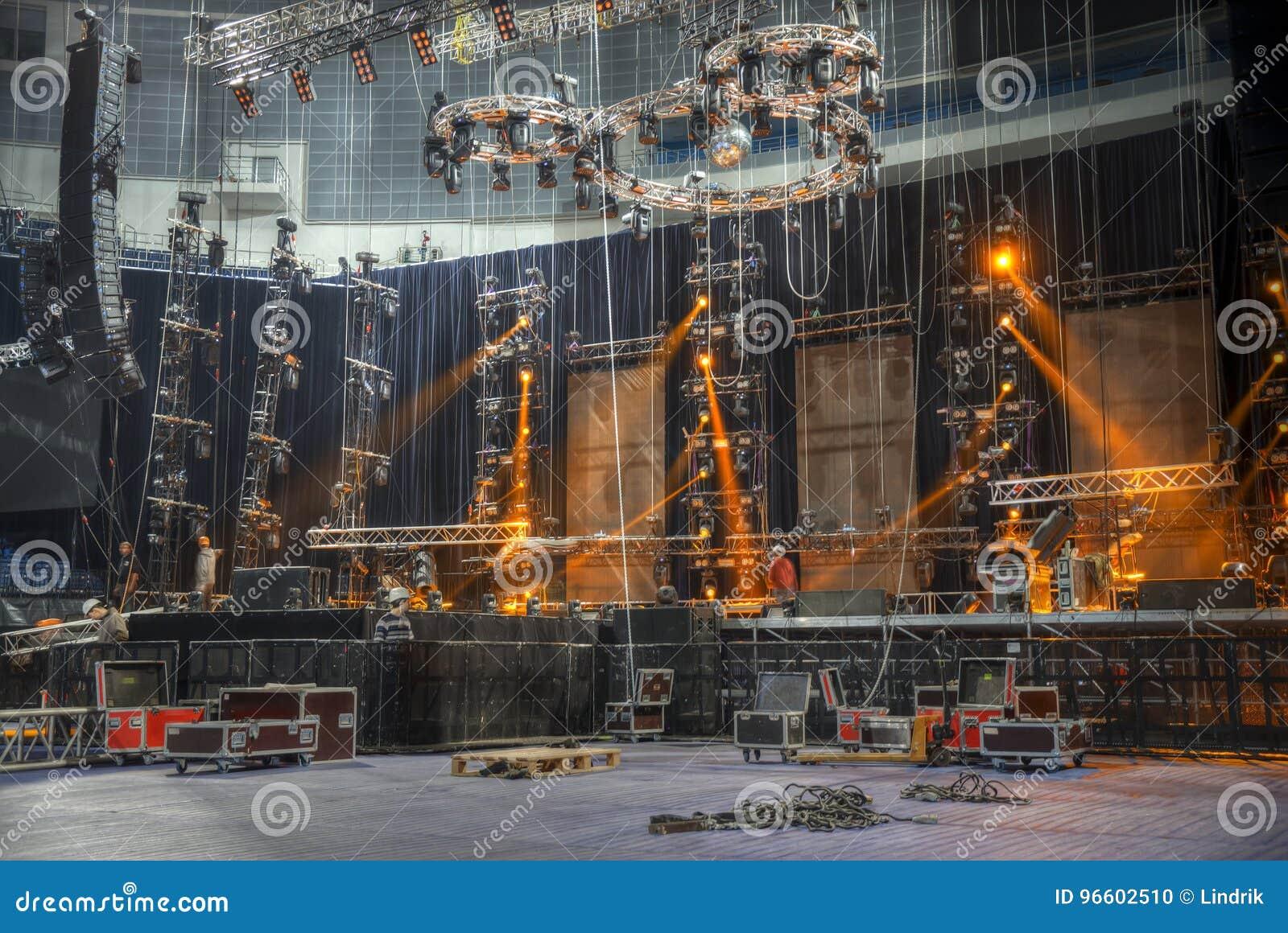 Préparation pour un concert