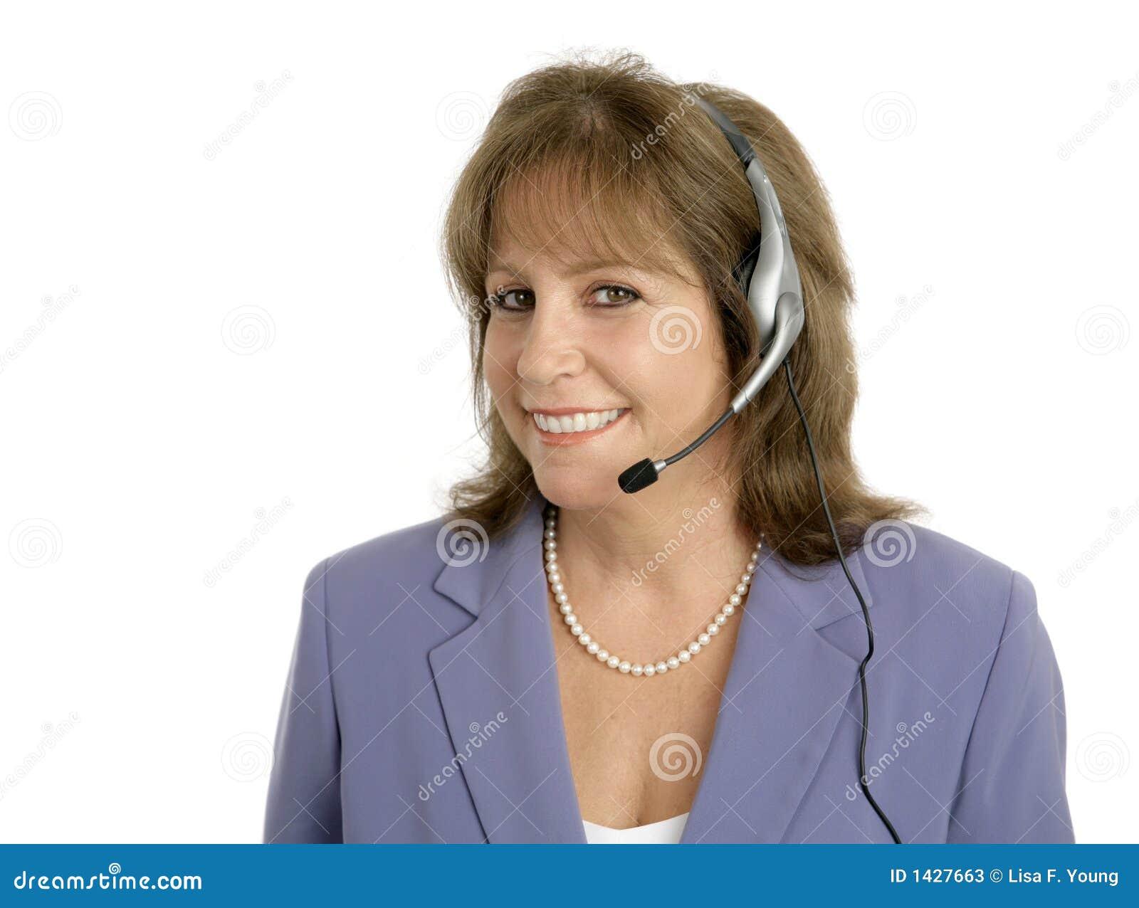 Préposé du service amical de service à la clientèle