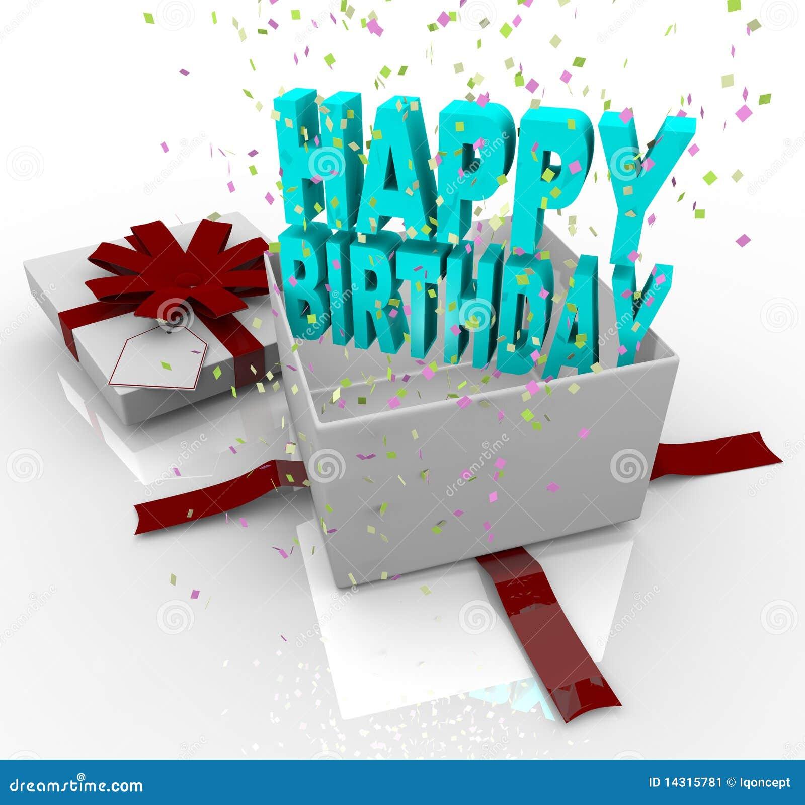 pr sent cadre de cadeau de joyeux anniversaire illustration stock image 14315781. Black Bedroom Furniture Sets. Home Design Ideas