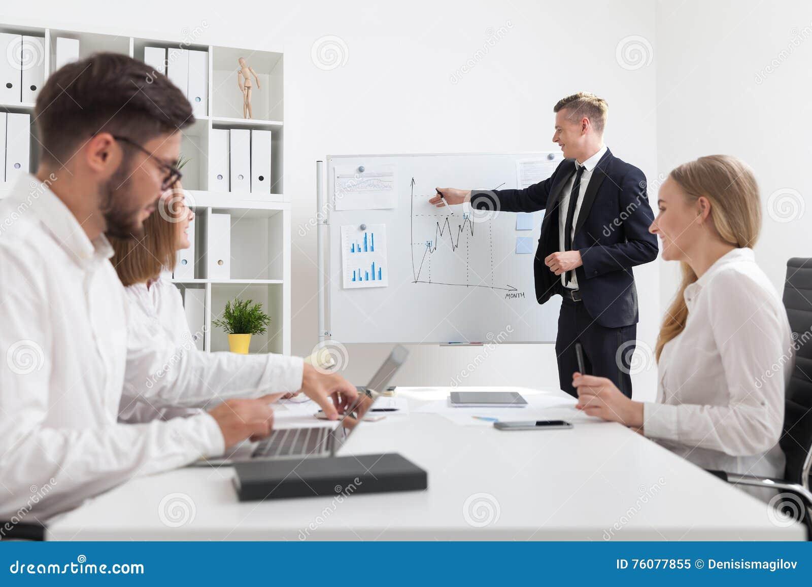 Présentation dans le bureau moderne