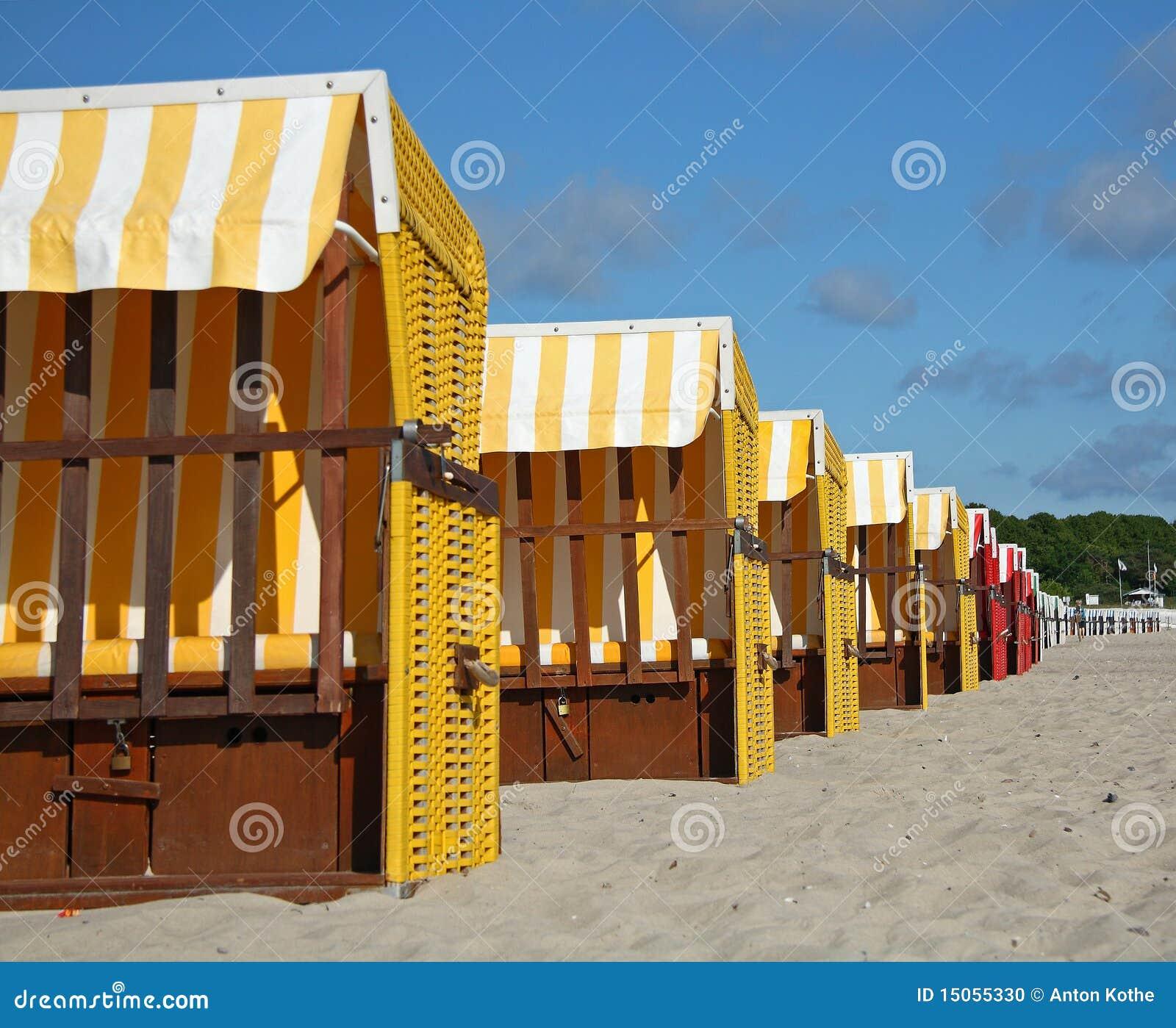Présidences de plage colorées