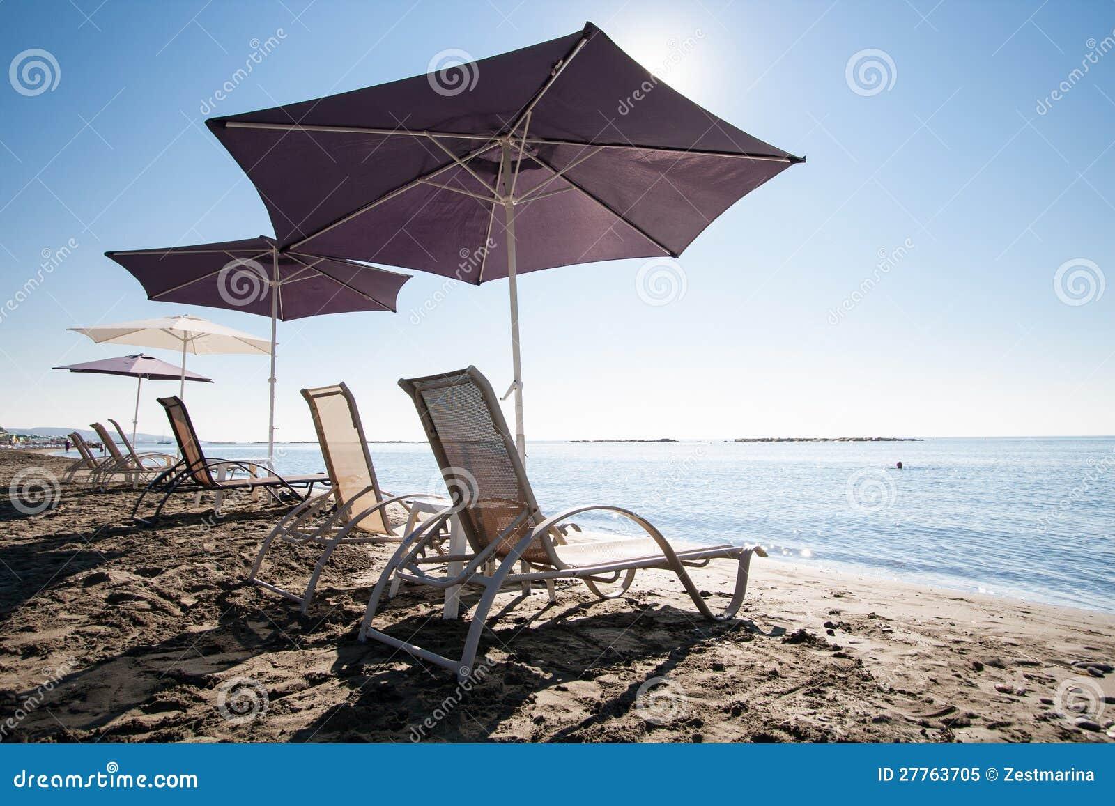 Présidences et parapluies de plage