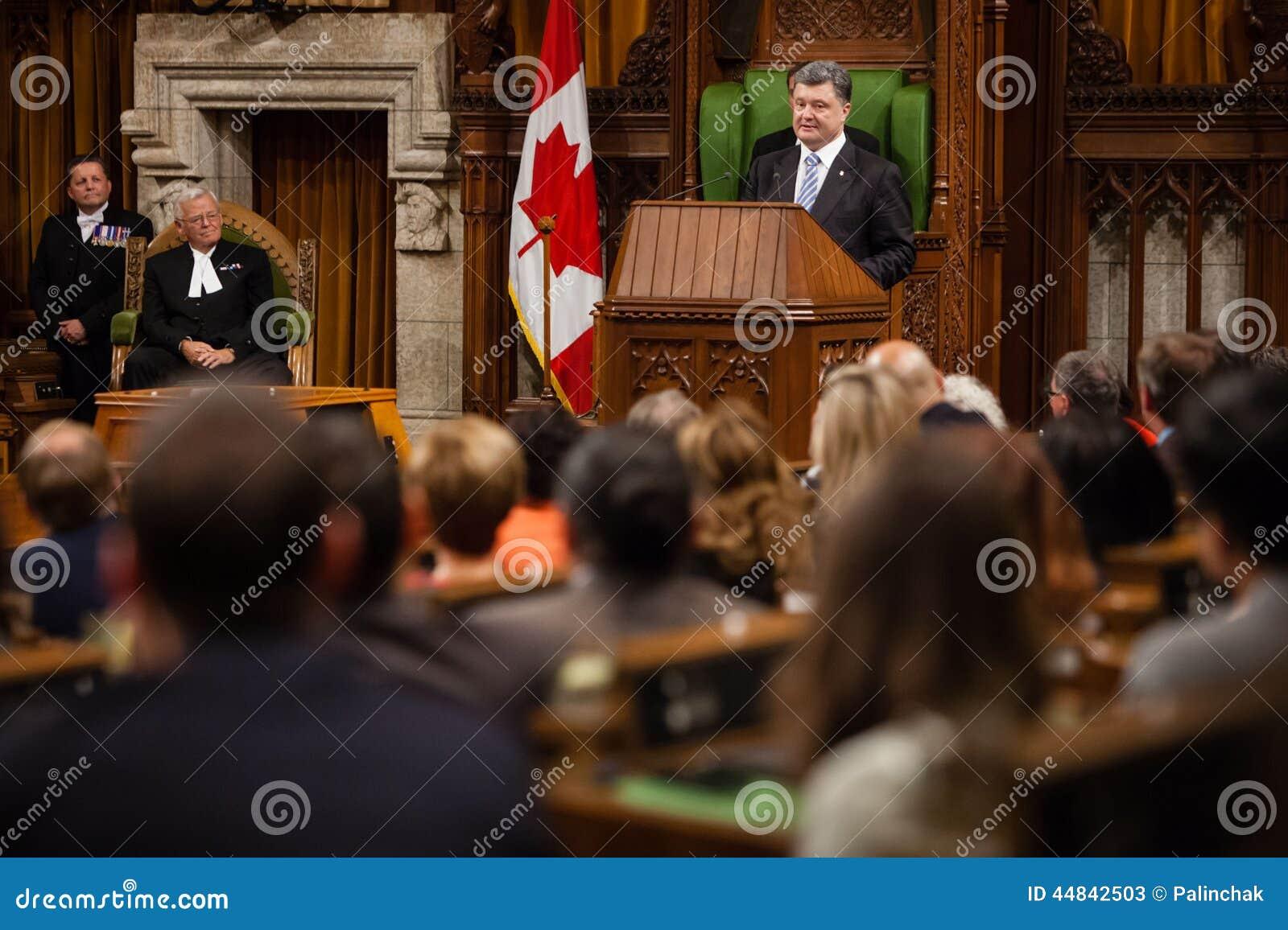 Président de l Ukraine Petro Poroshenko à Ottawa (Canada)