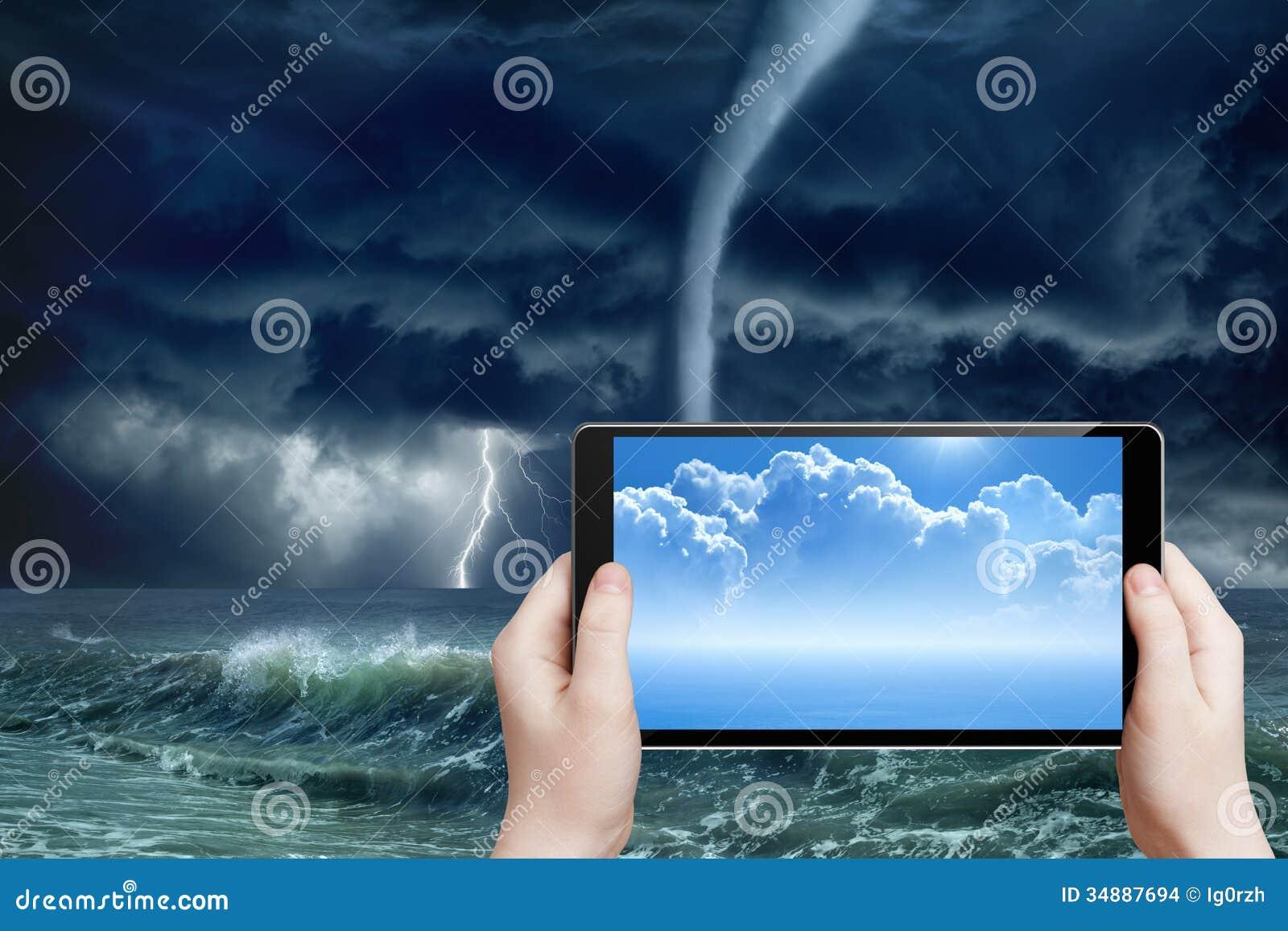Prévisions météorologiques, réalité augmentée