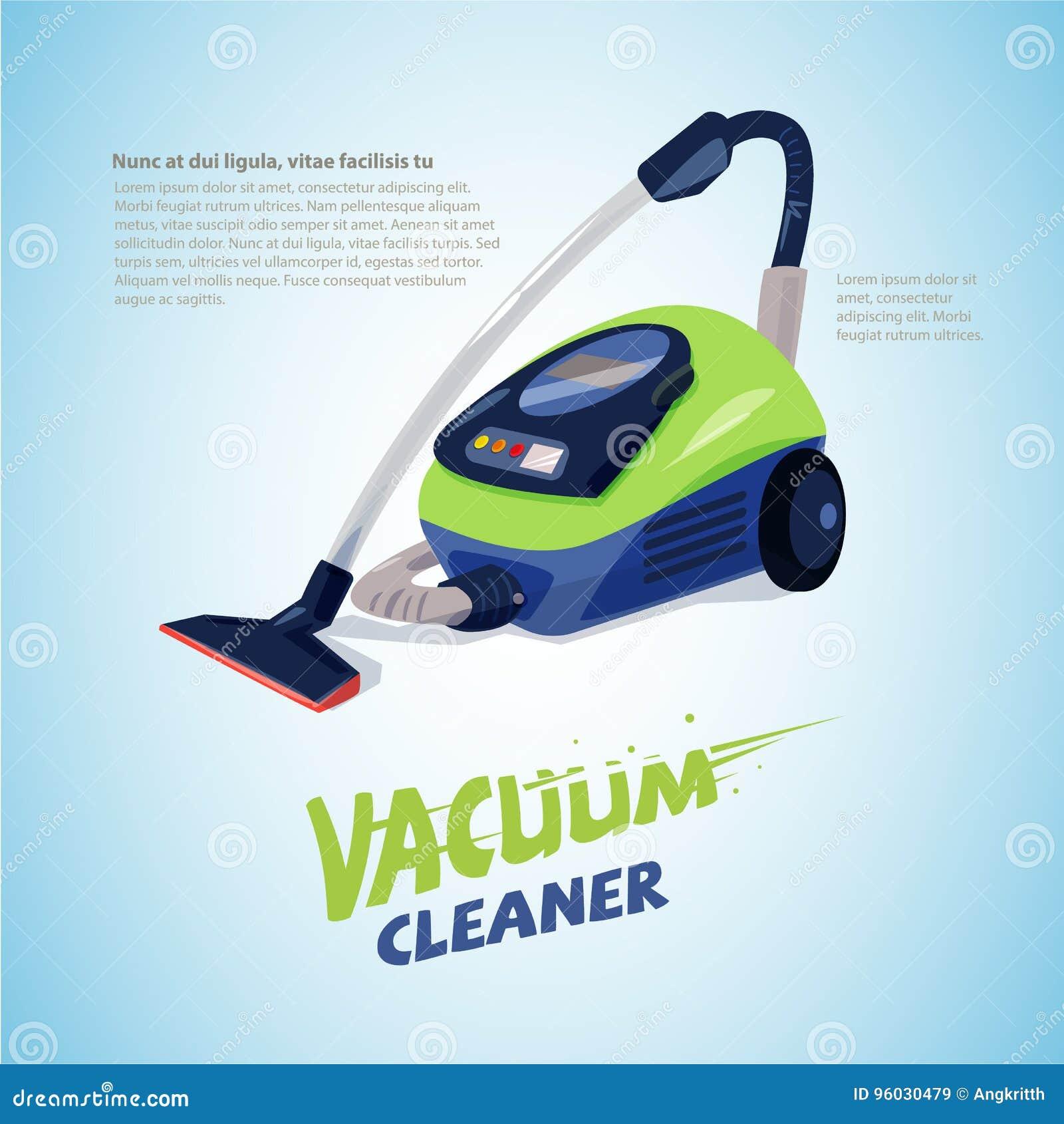 Próżniowy Cleaner z typograficznym dla chodnikowa projekta - wektor