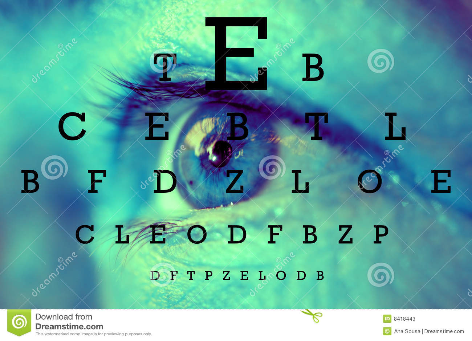 Próbny mapa wzrok