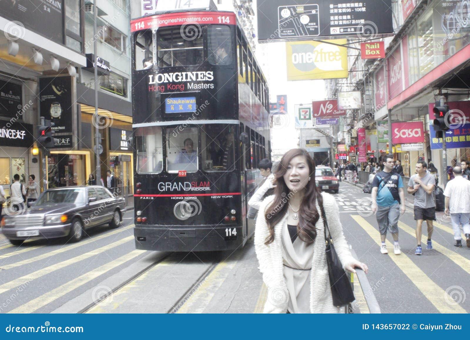 Próbuje mnie, Hong Kong zadziwiający tramwaj!
