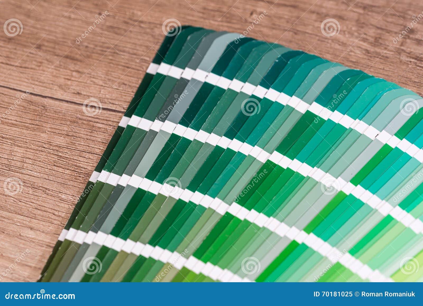 Prövkopiadiagram för grön färg
