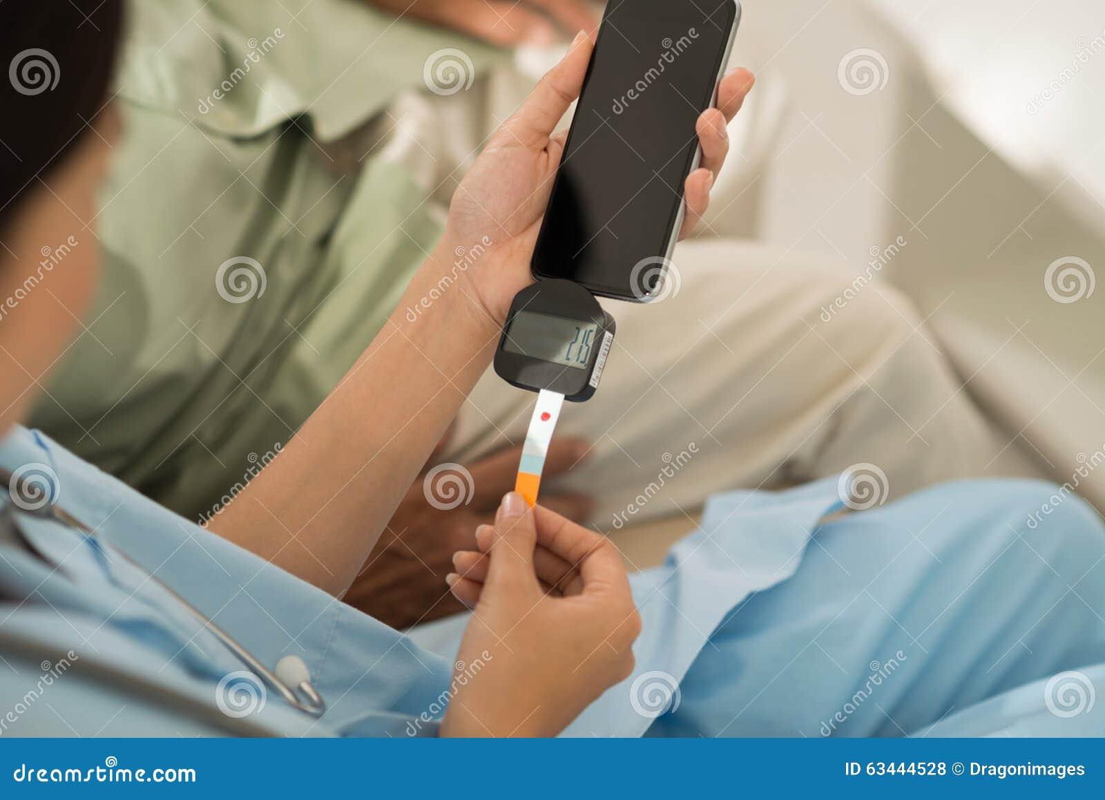 Prüfung des Blutzuckerspiegels