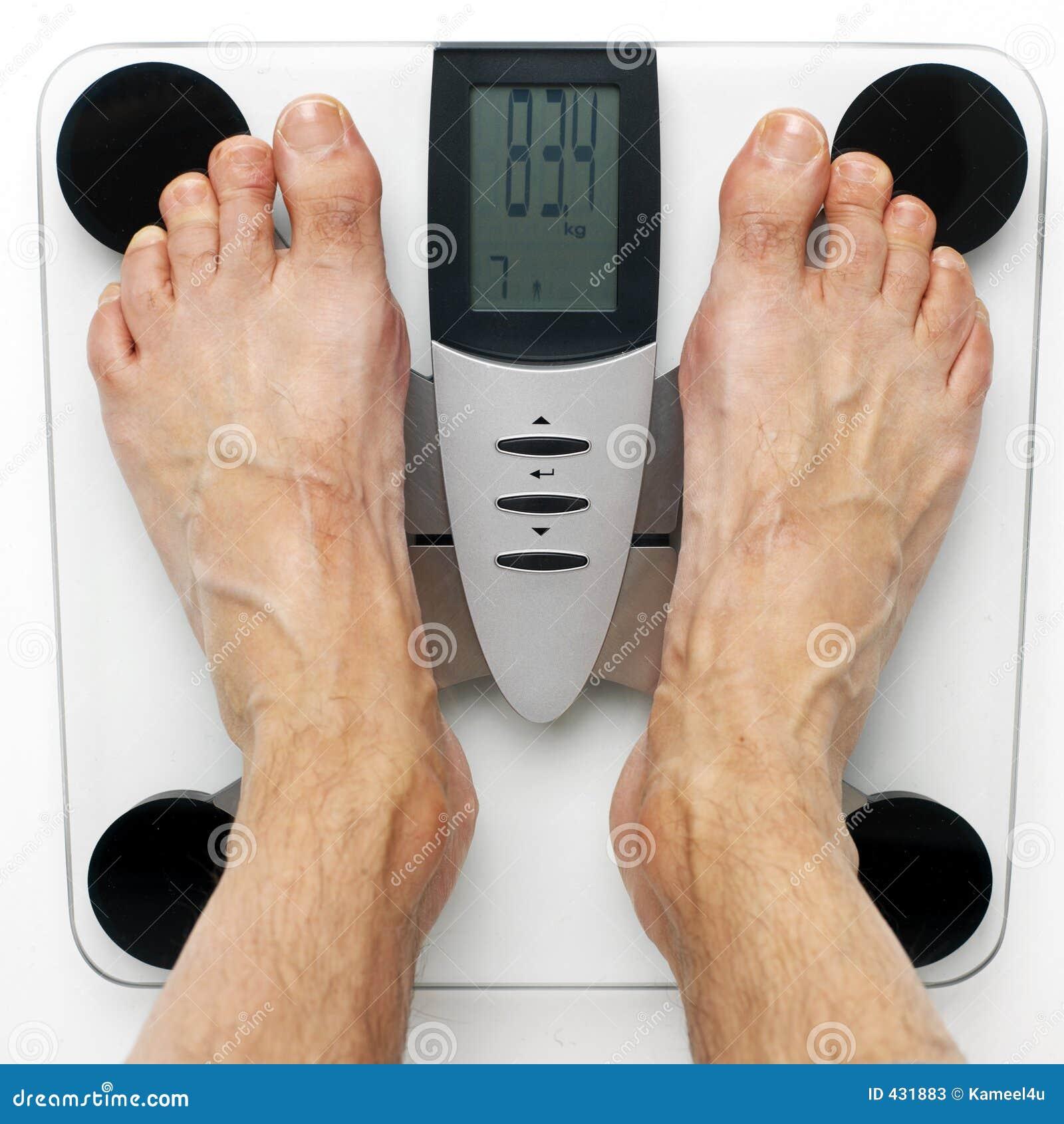 Prüfung seines Gewichts