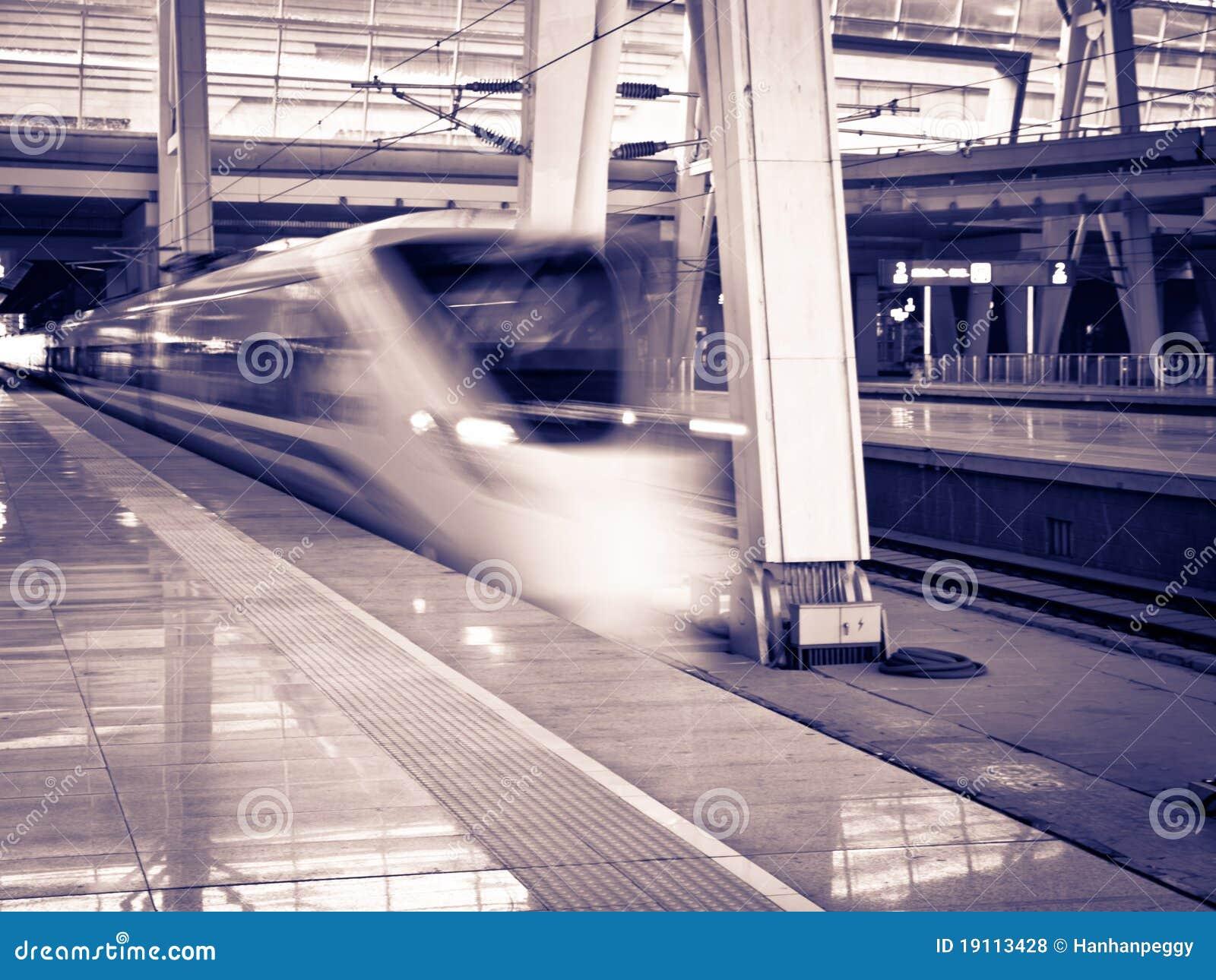 Prędkość wysoki pociąg