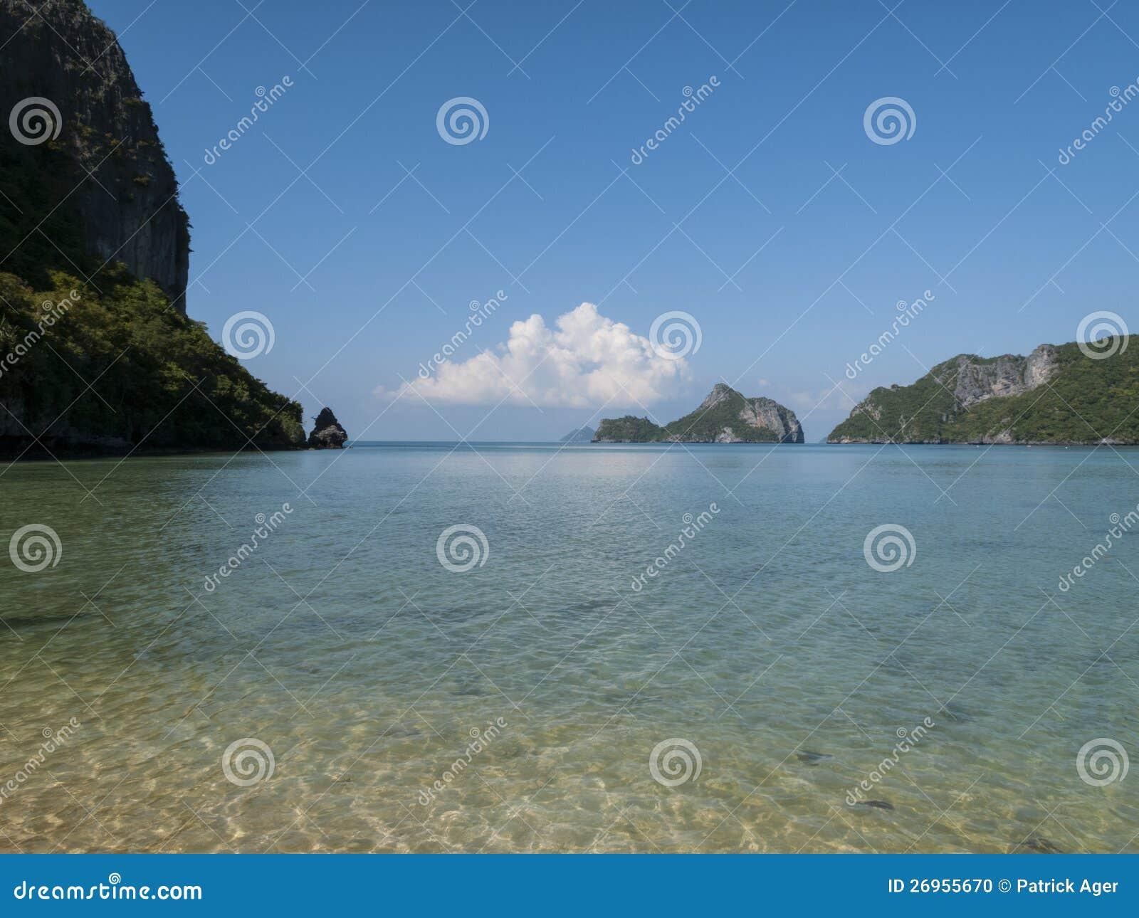 Prędkości Łódź w zatoce Thailand