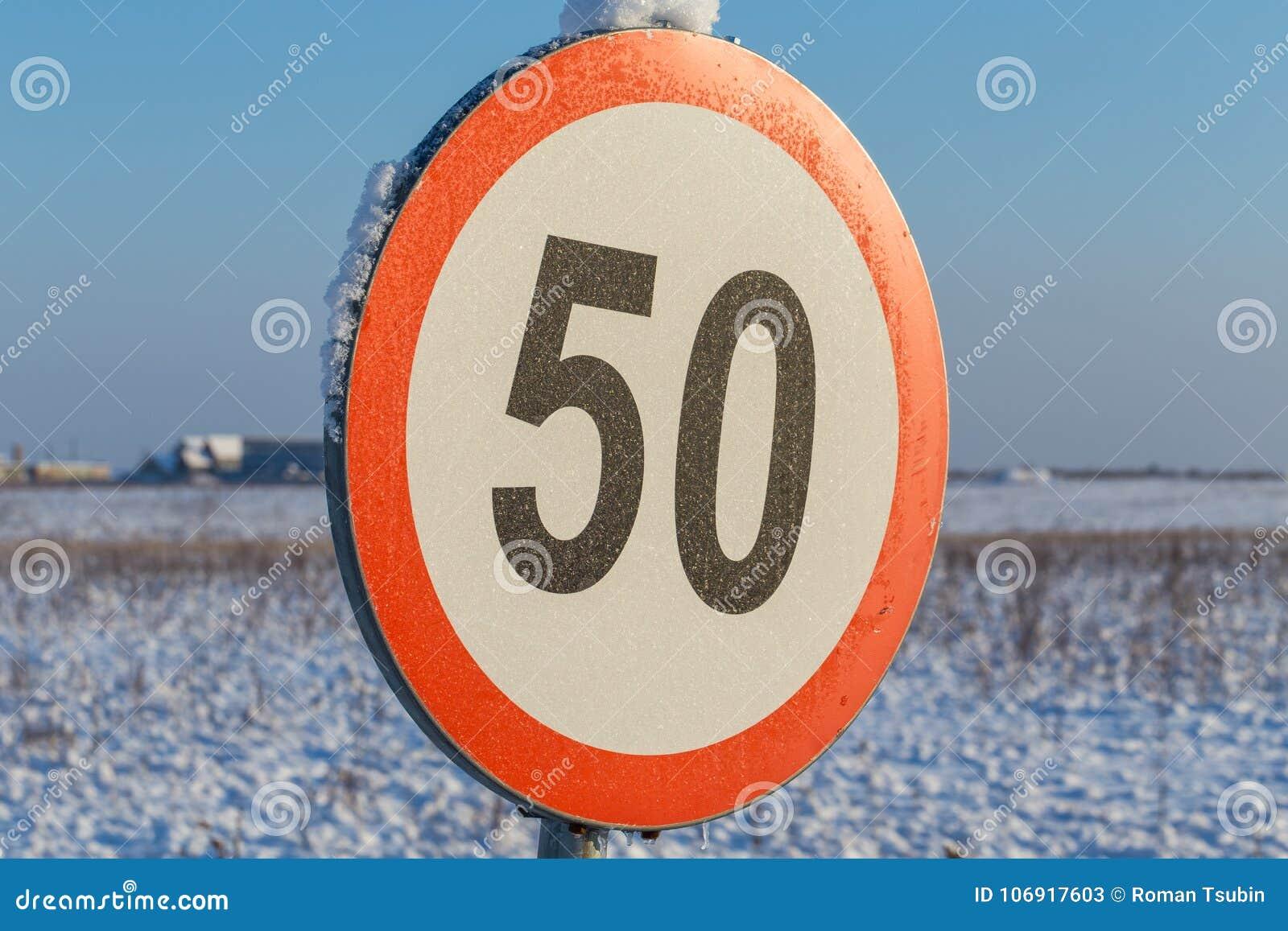 Prędkości ograniczenia znak 50