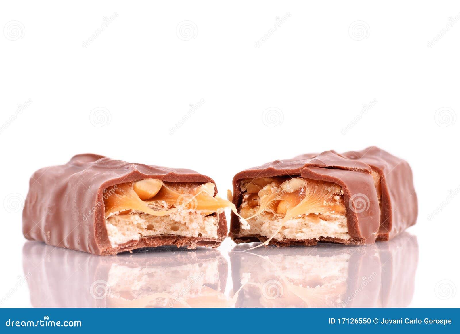 Prętowe czekoladowe połówki