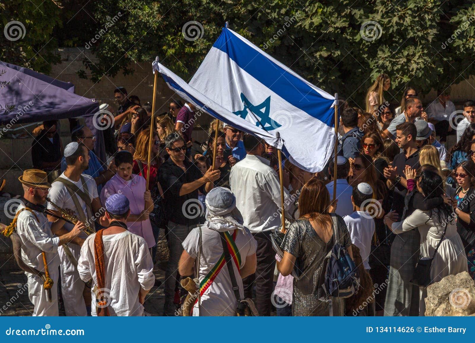 Prętowego Mitzvah świętowanie przy Zachodnią ścianą,