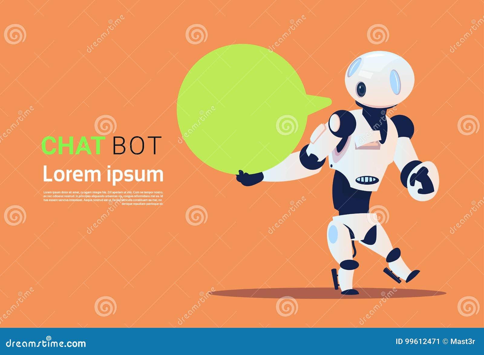 Praatje Bot, Element van de Robots het Virtuele Hulp van Website of Mobiele Toepassingen, Kunstmatige intelligentieconcept