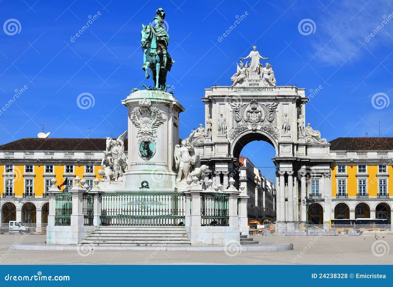 praca do comercio lisbon portugal royalty free stock photos image 24238328. Black Bedroom Furniture Sets. Home Design Ideas