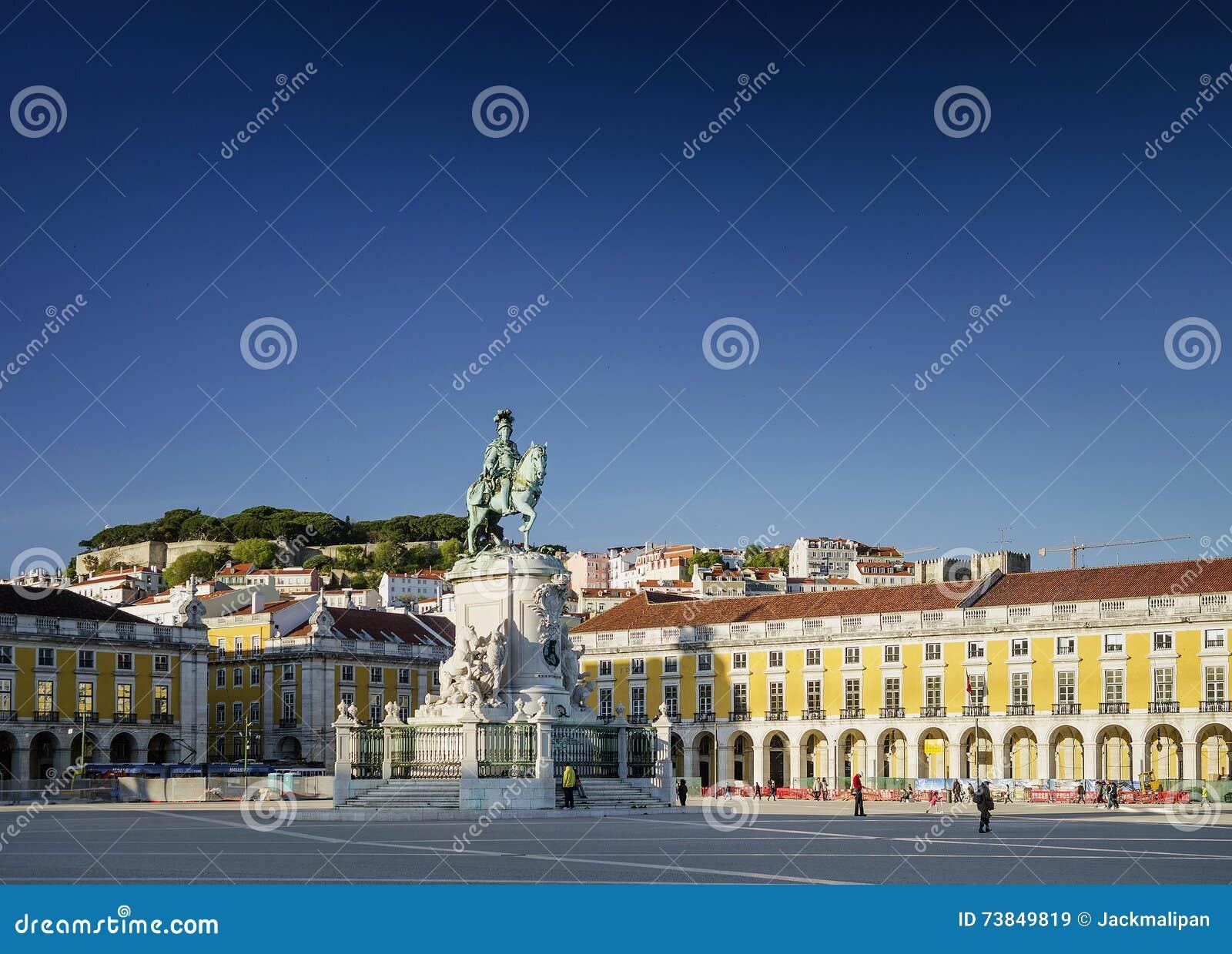 Praca doet comercio hoofdvierkant in centraal Lissabon Portugal