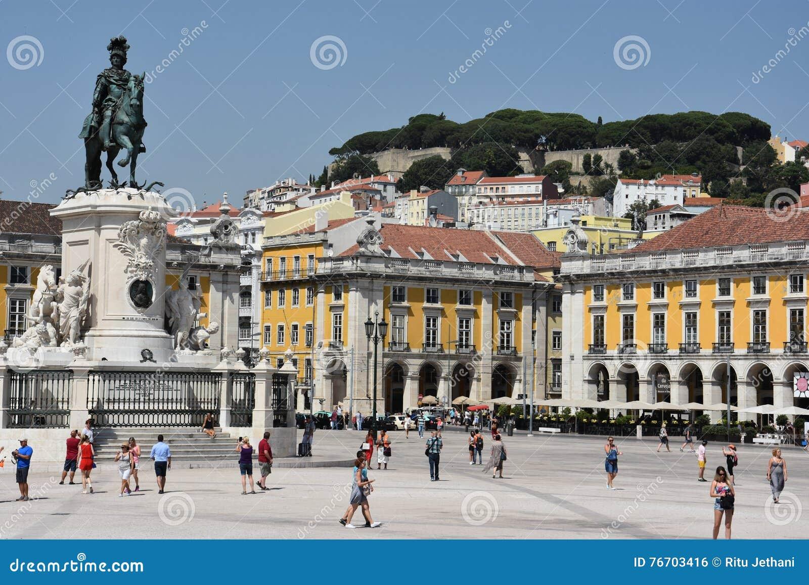 Praca fa Comercio a Lisbona, Portogallo