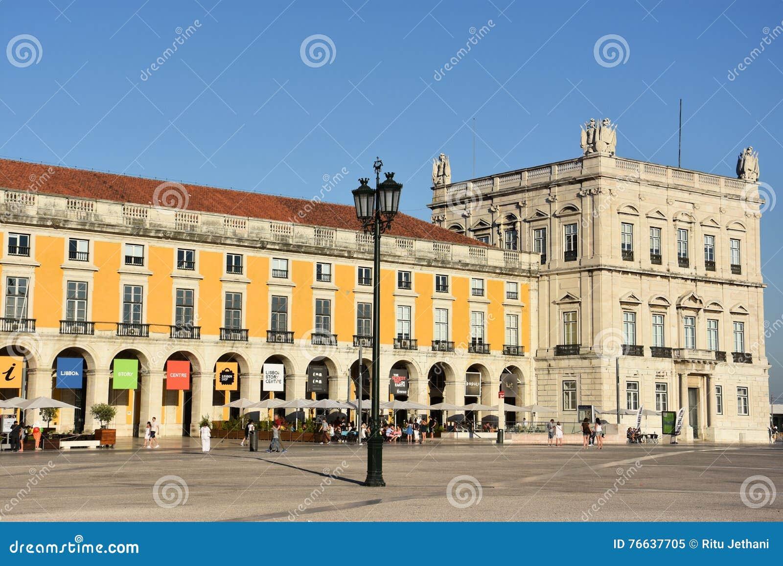 Praca font Comercio à Lisbonne, Portugal
