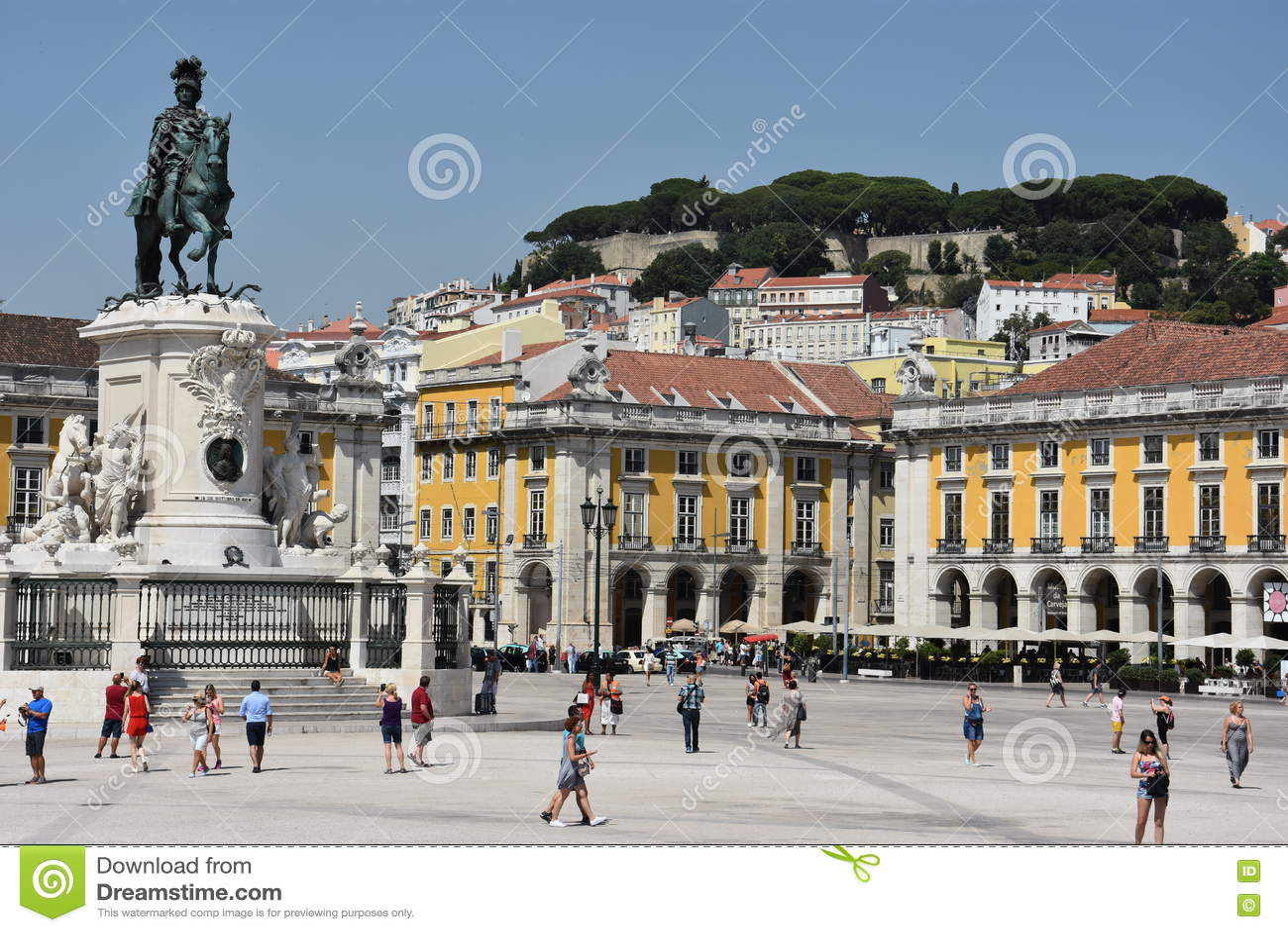 Praca tun Comercio in Lissabon, Portugal