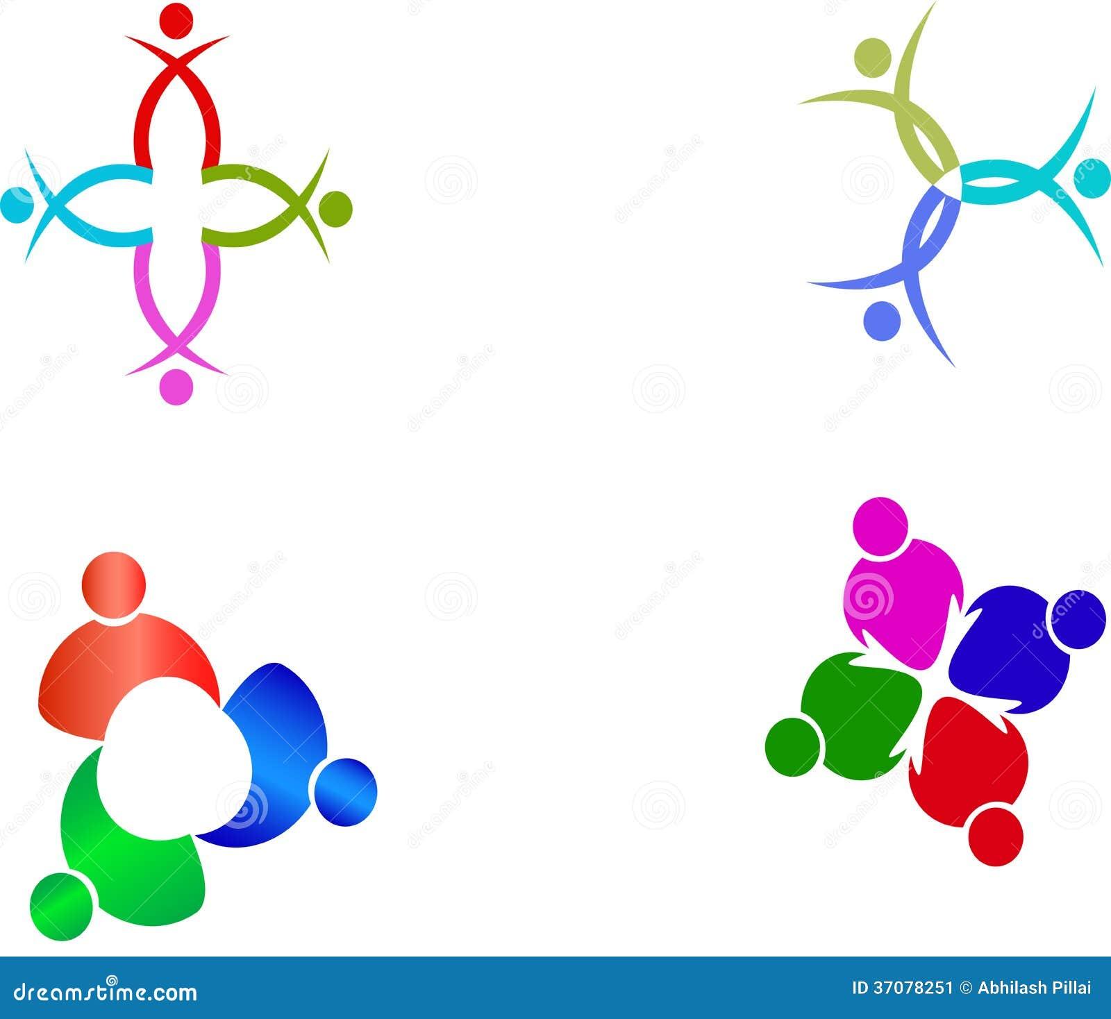 Download Praca zespołowa logowie ilustracja wektor. Ilustracja złożonej z teamwork - 37078251