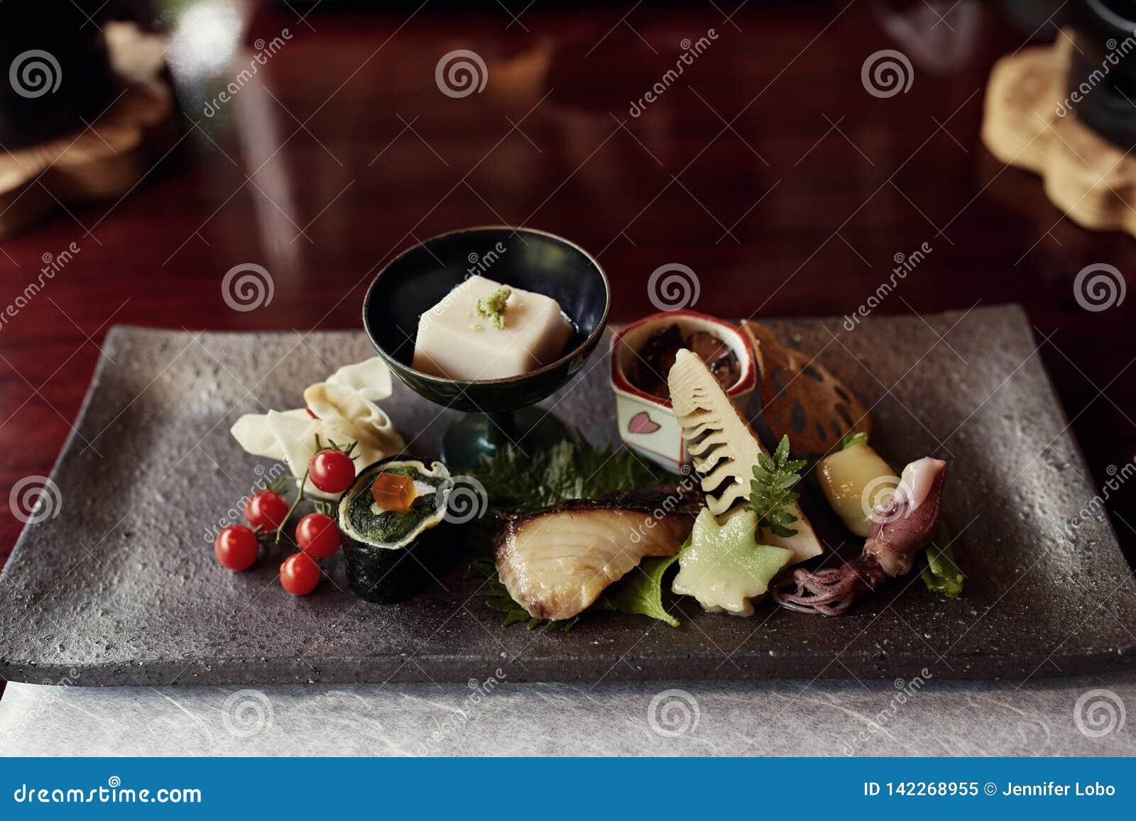 Prachtig geschikte Kaiseki-tofu cursus in Japan