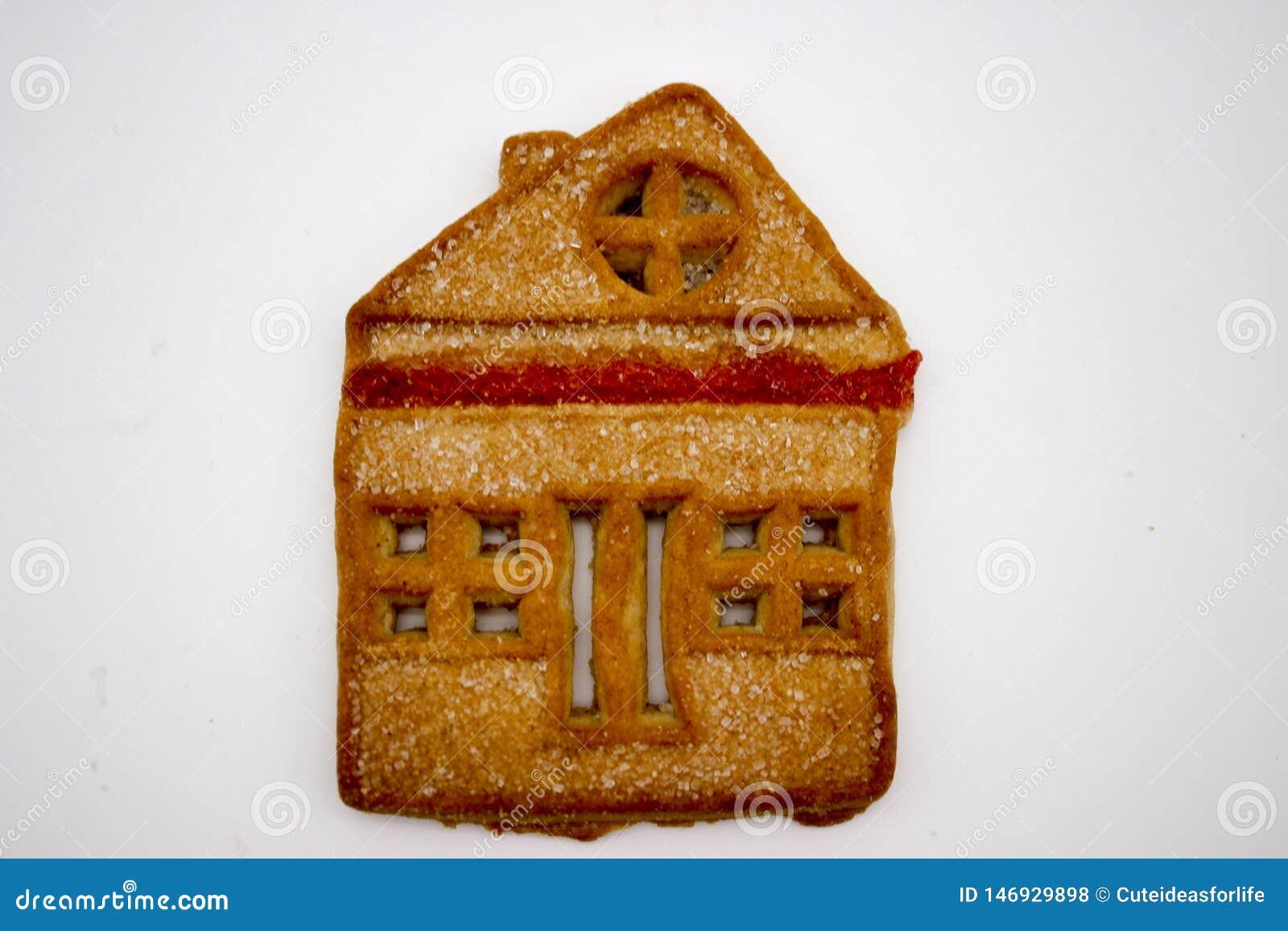 Prachtige en Heerlijke Koekjes met Marmelade in de vorm van een ??n-Verhaal Huis