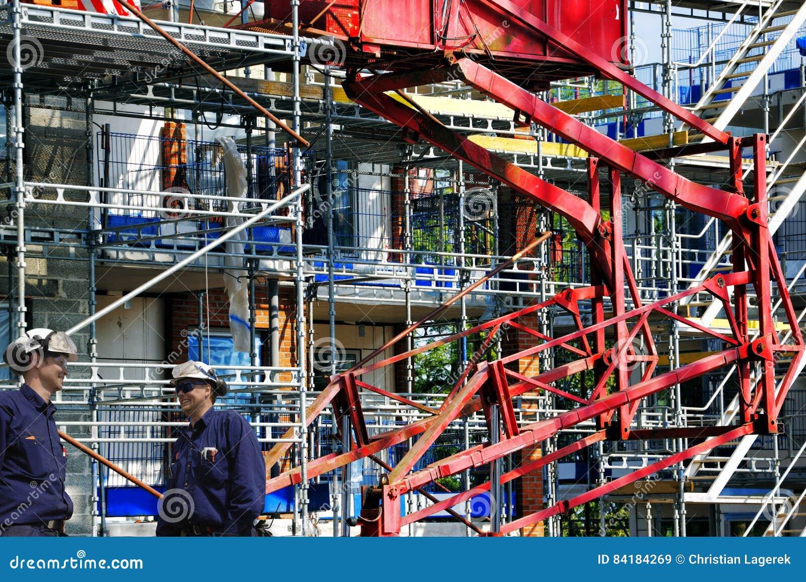 Pracownicy budowlani i budynku przemysł