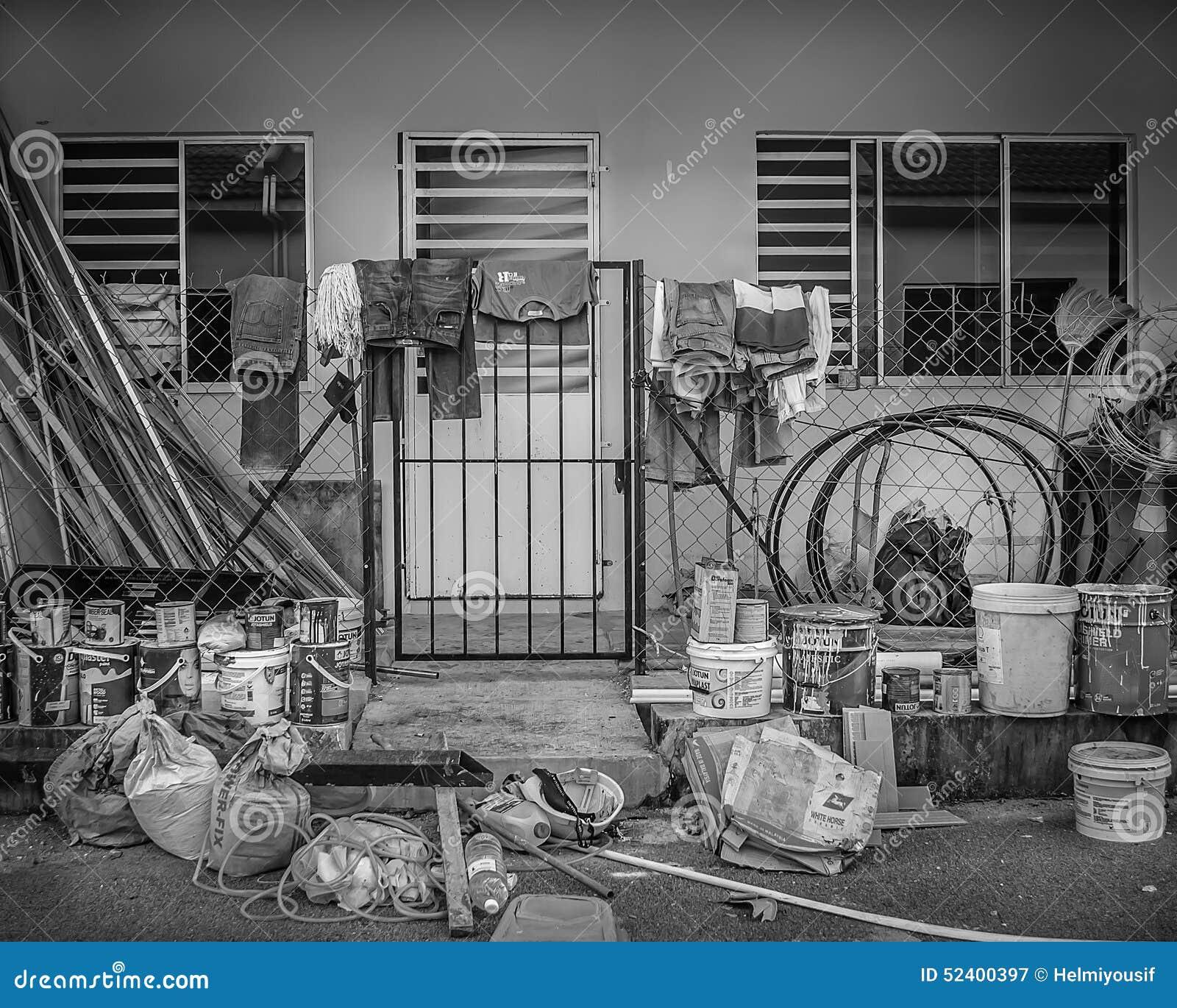 Pracowniczy dom podczas święta pracy