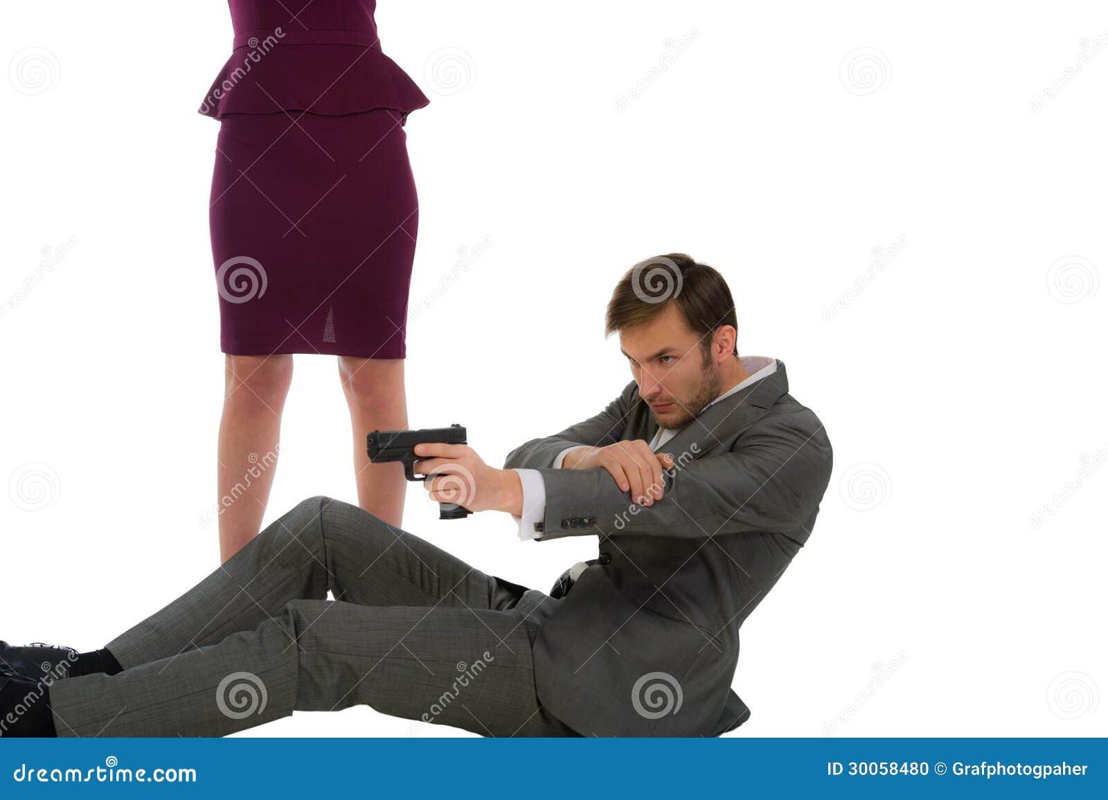 Ochroniarz ochrania kobiety