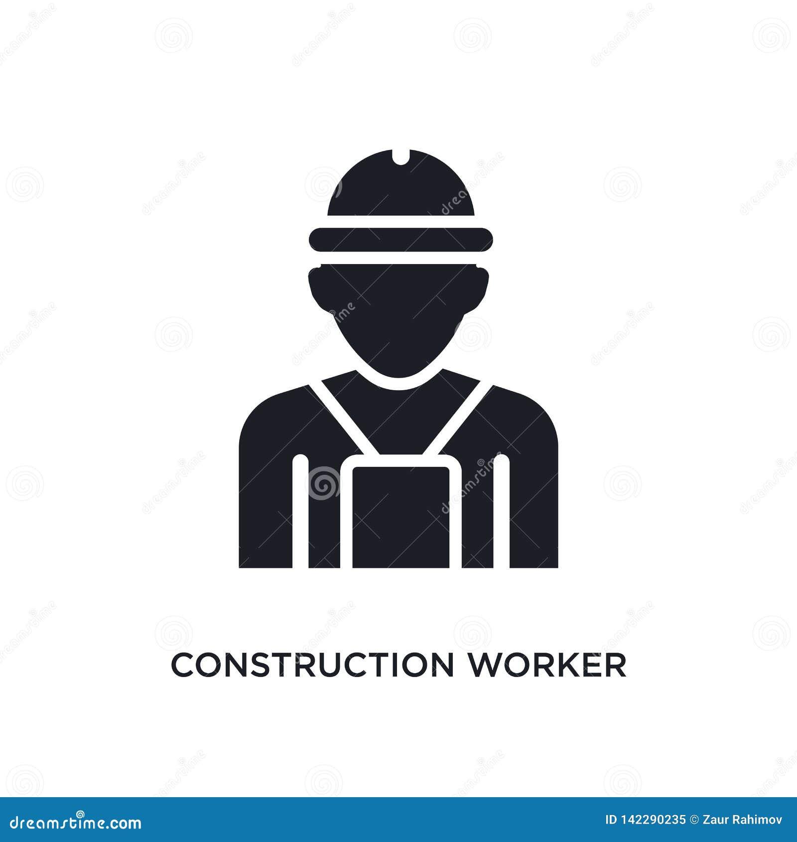 Pracownik budowlany odosobniona ikona prosta element ilustracja od istoty ludzkiej pojęcia ikon pracownika budowlanego logo edita