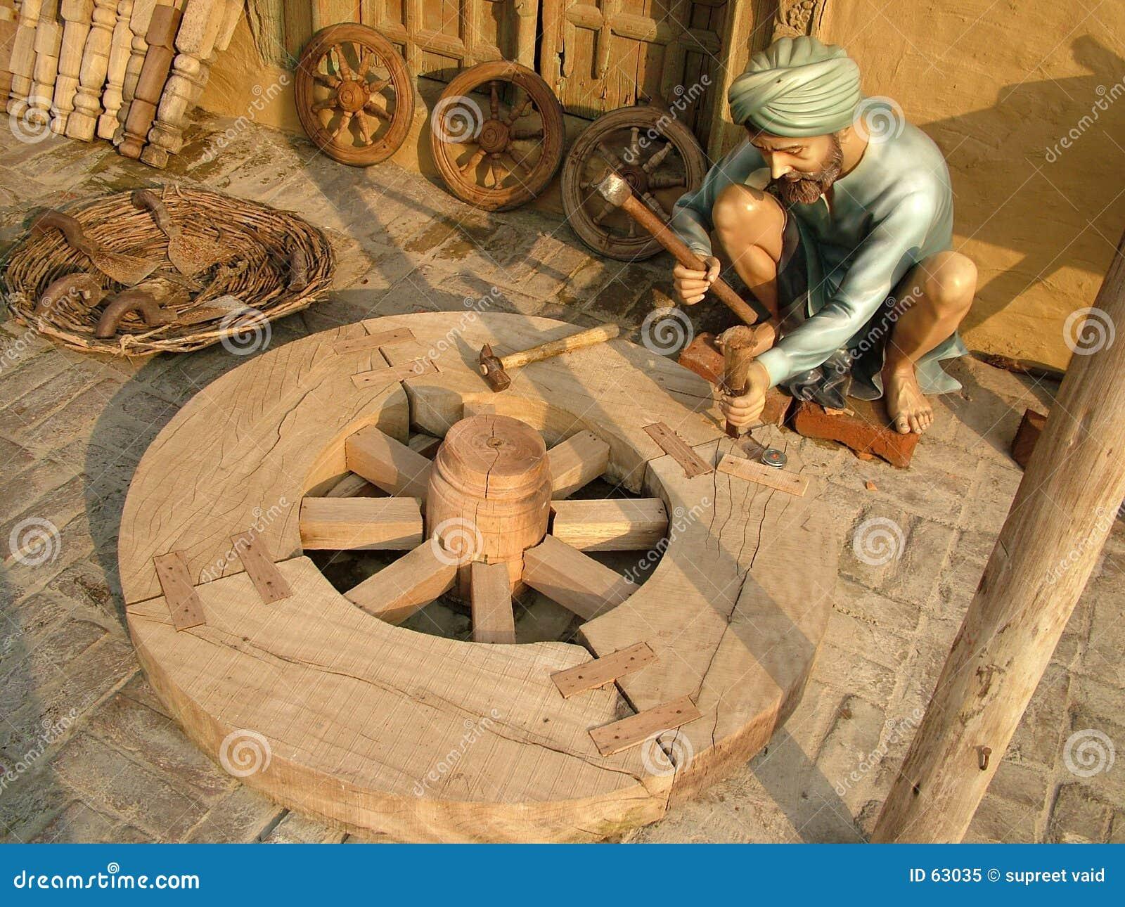 Pracownik drewna