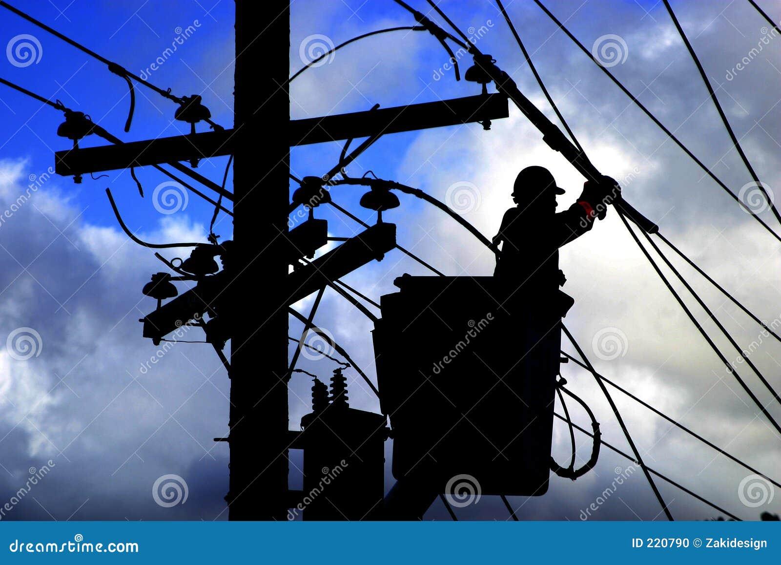Pracownik elektryczne